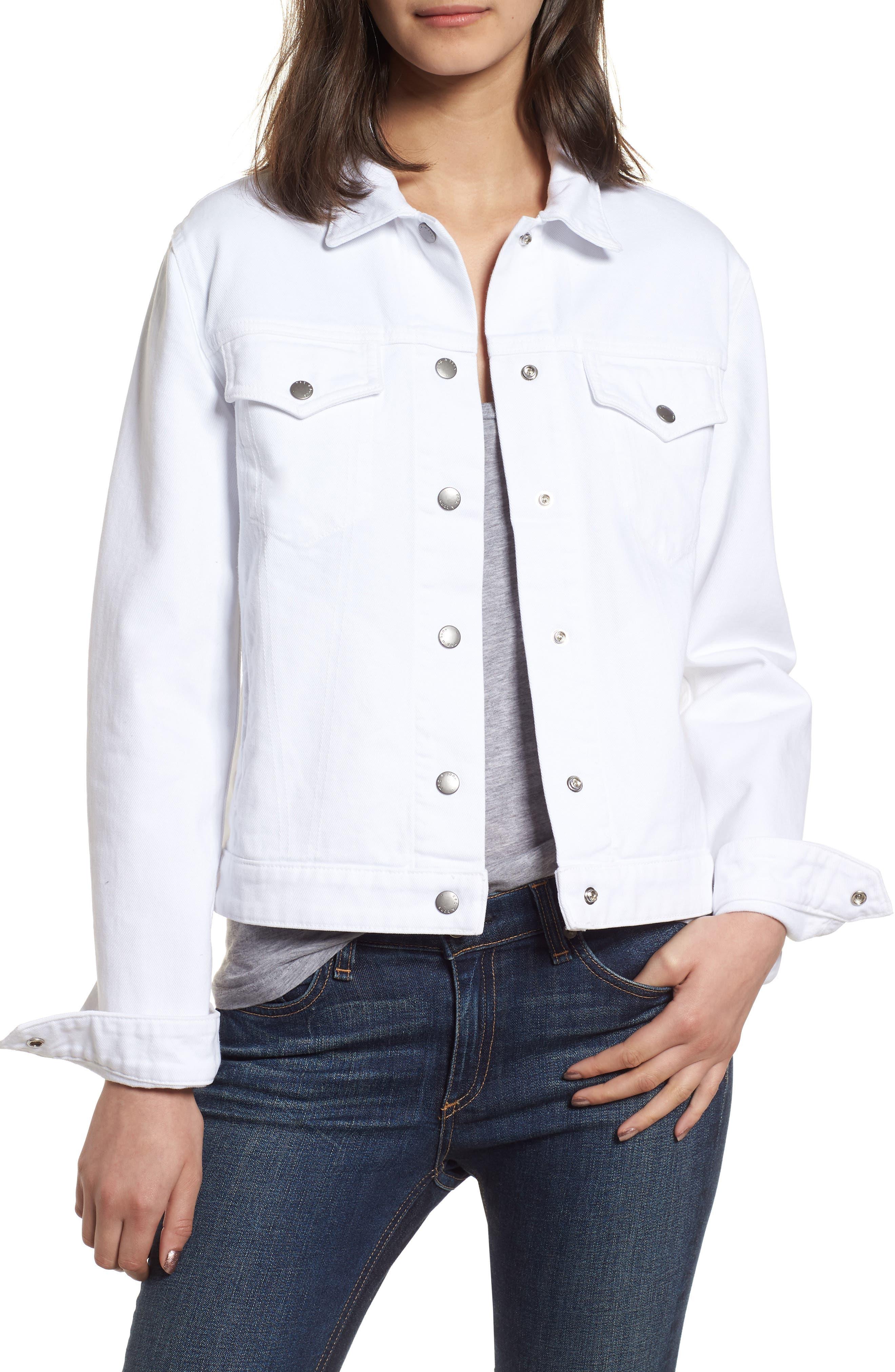 Nico Denim Jacket,                             Main thumbnail 1, color,                             White