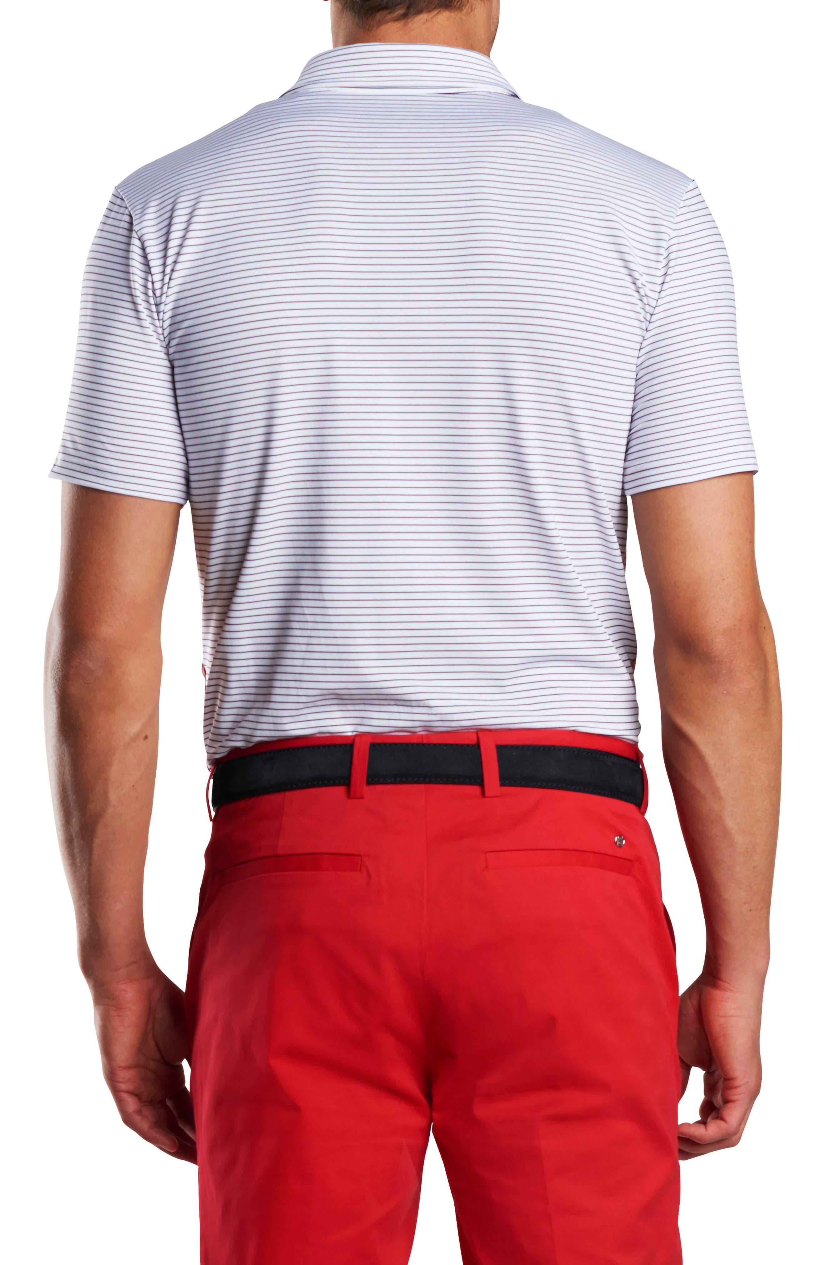Stripe Regular Fit Polo,                             Alternate thumbnail 2, color,                             Snow