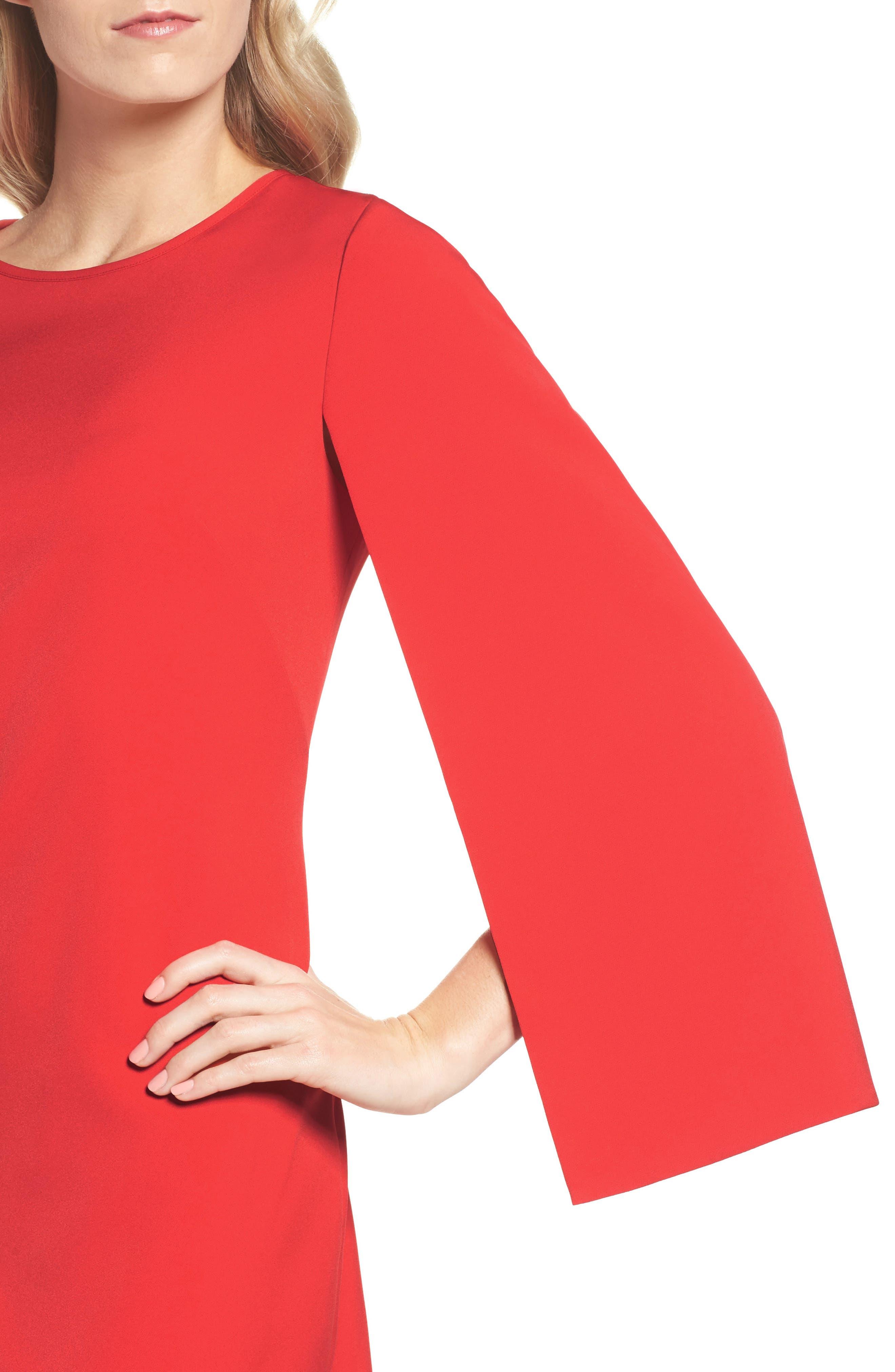 Alternate Image 4  - Eliza J Cape Sleeve Minidress
