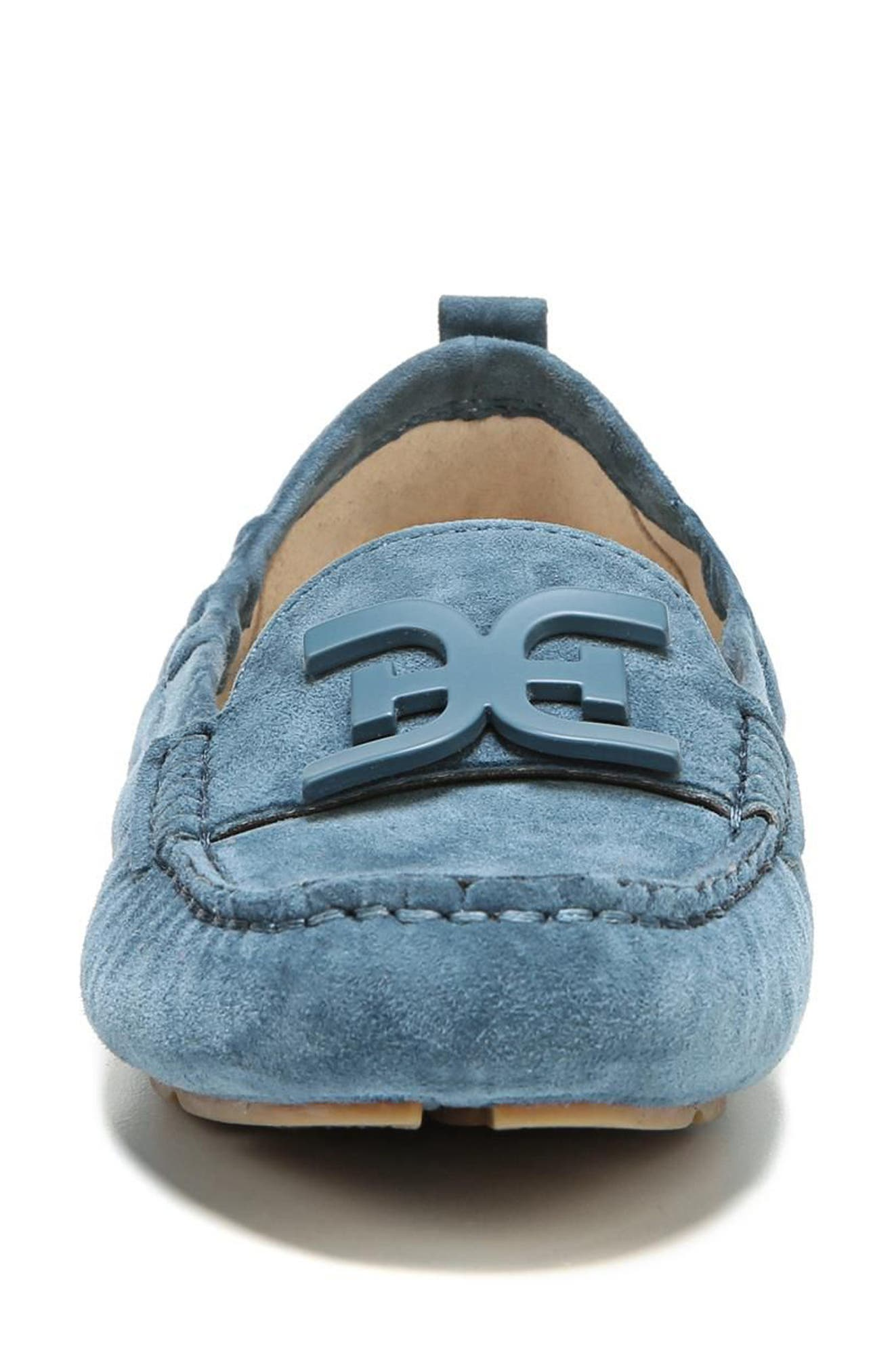 Farrell Moccasin Loafer,                             Alternate thumbnail 4, color,                             Denim Blue Suede