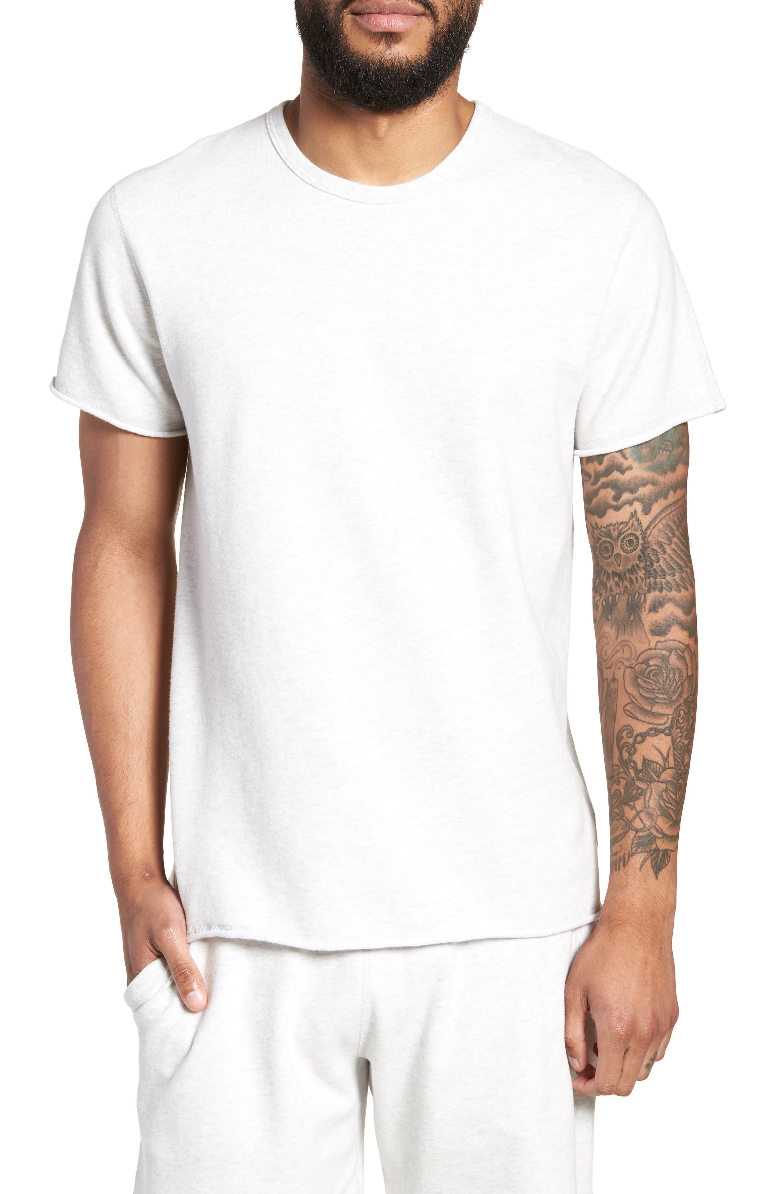 Raw Edge T-Shirt,                         Main,                         color, H. Ash