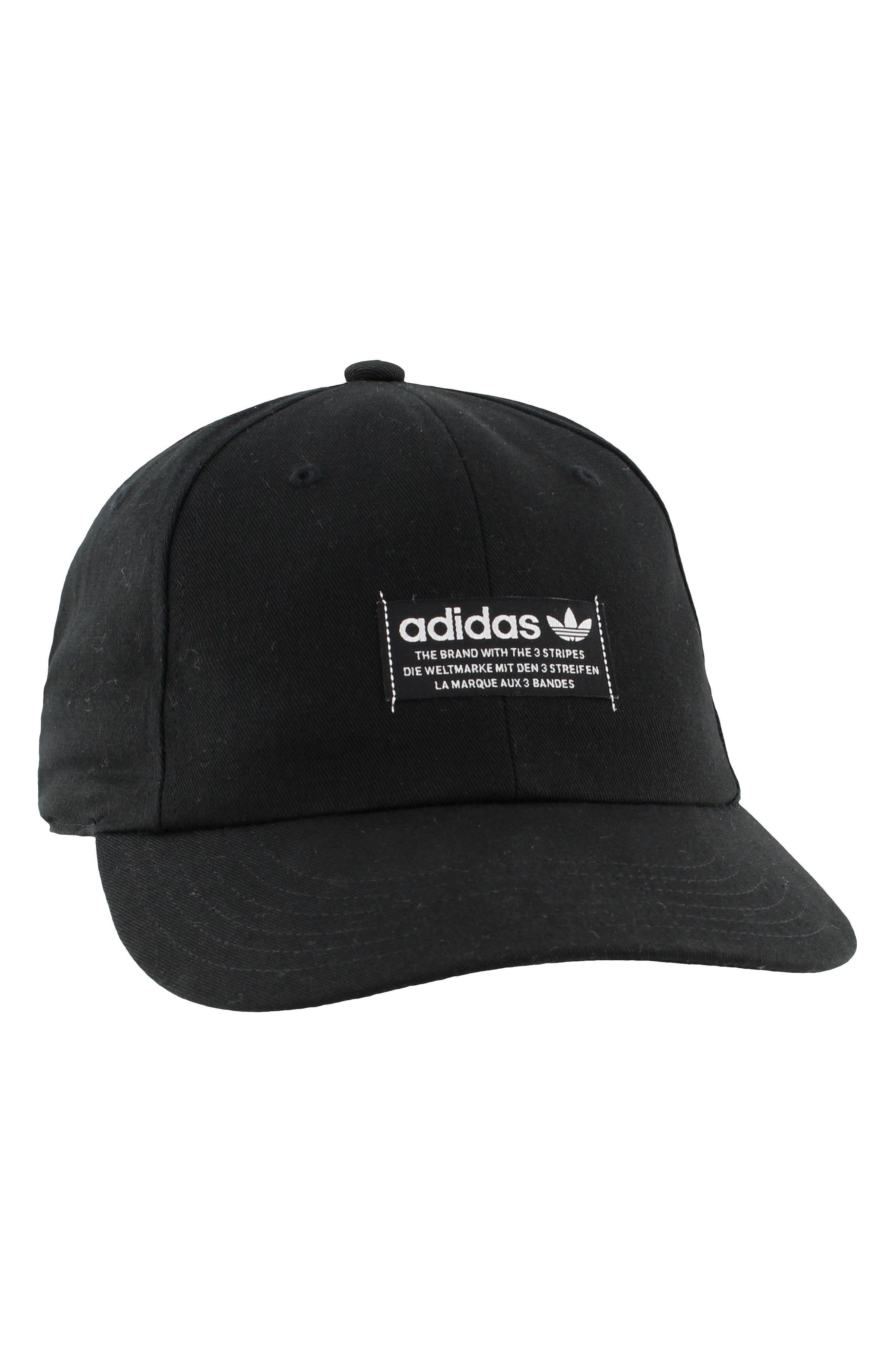 adidas Original Relaxed Patch Ball Cap,                             Alternate thumbnail 2, color,                             Black