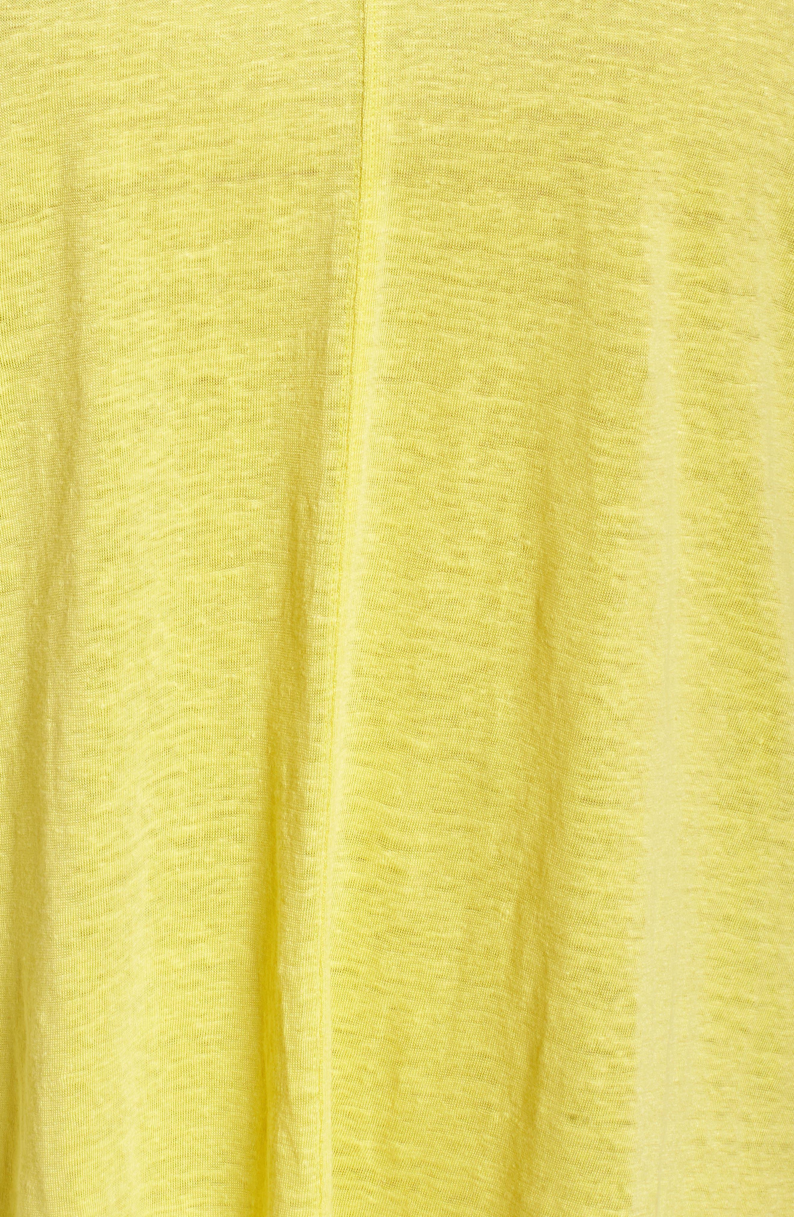 Organic Linen Top,                             Alternate thumbnail 6, color,                             Yarrow