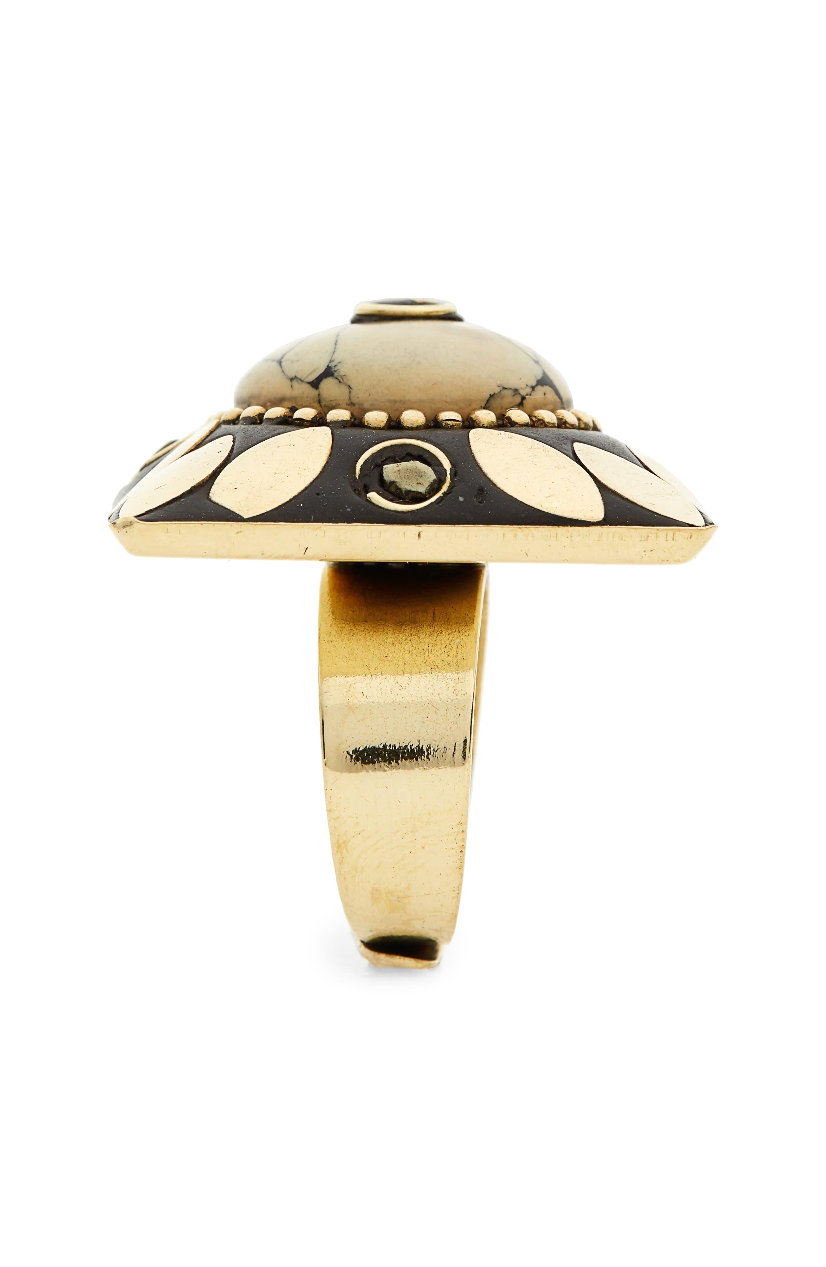 Jema Adjustable Ring,                             Alternate thumbnail 2, color,                             Ivory