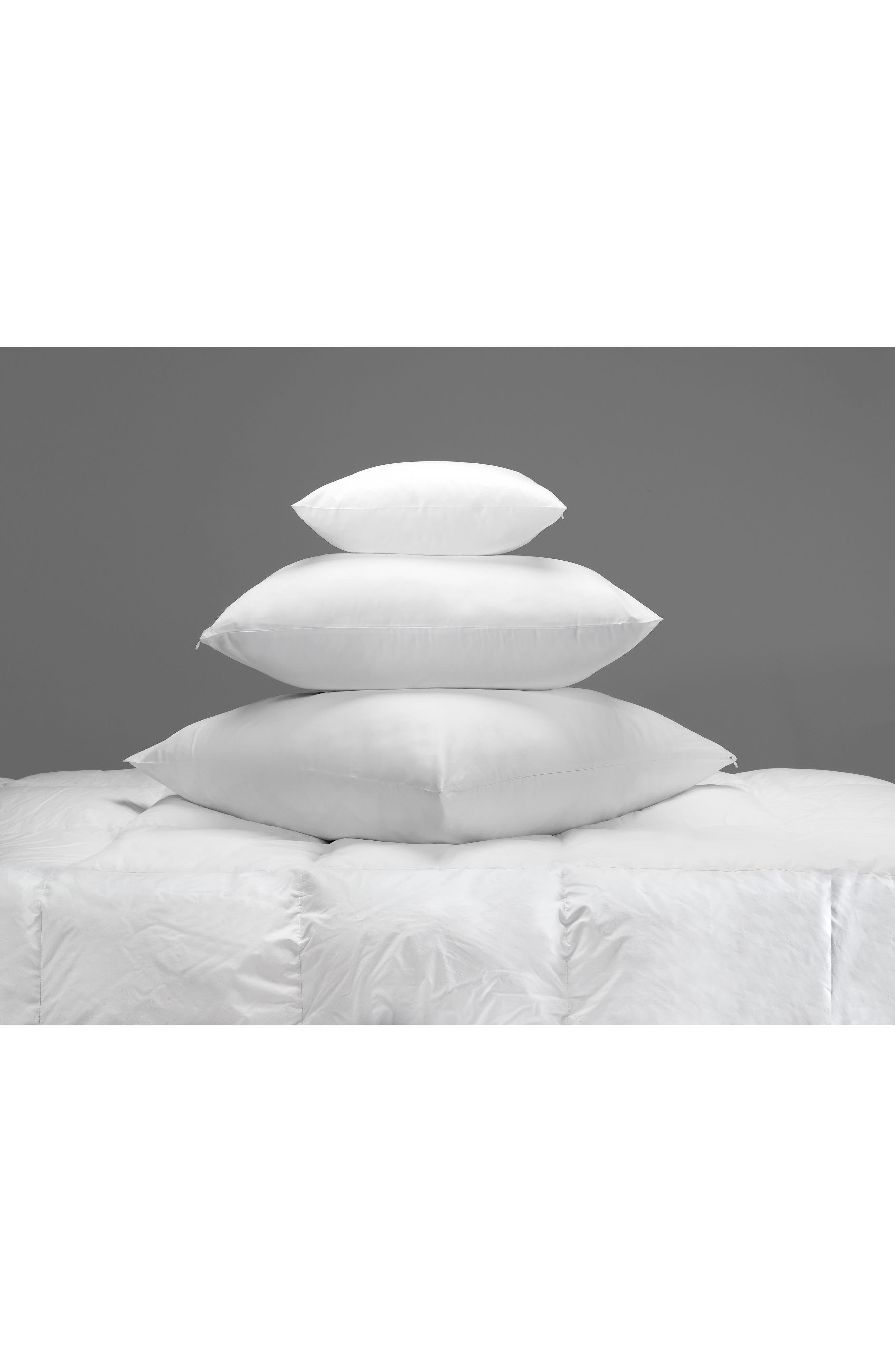 300 Thread Count Sateen Euro Pillow Protector,                             Main thumbnail 1, color,                             White