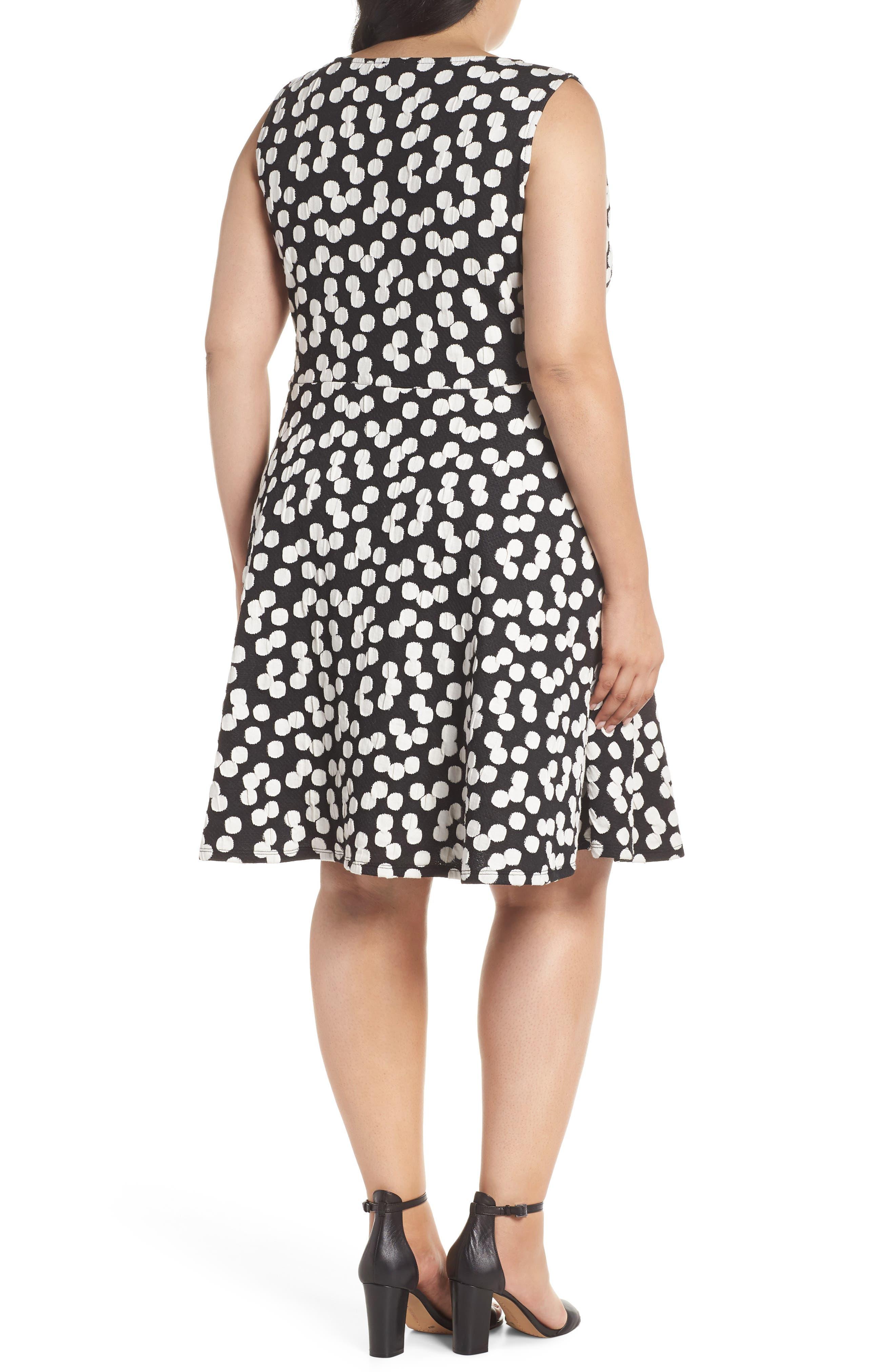 Ava Fit & Flare Dress,                             Alternate thumbnail 2, color,                             Cluster Dot