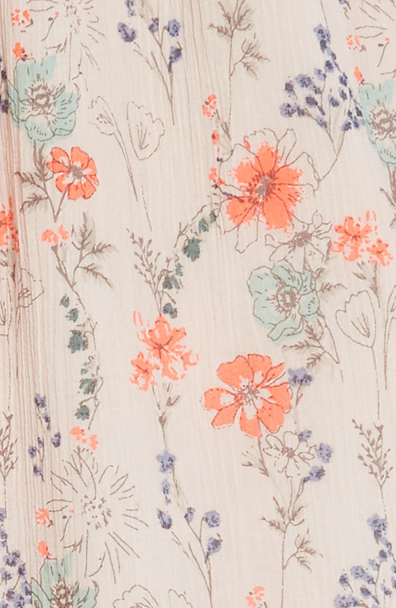 Floral Swing Dress,                             Alternate thumbnail 3, color,                             Pink Peach Spaced Garden
