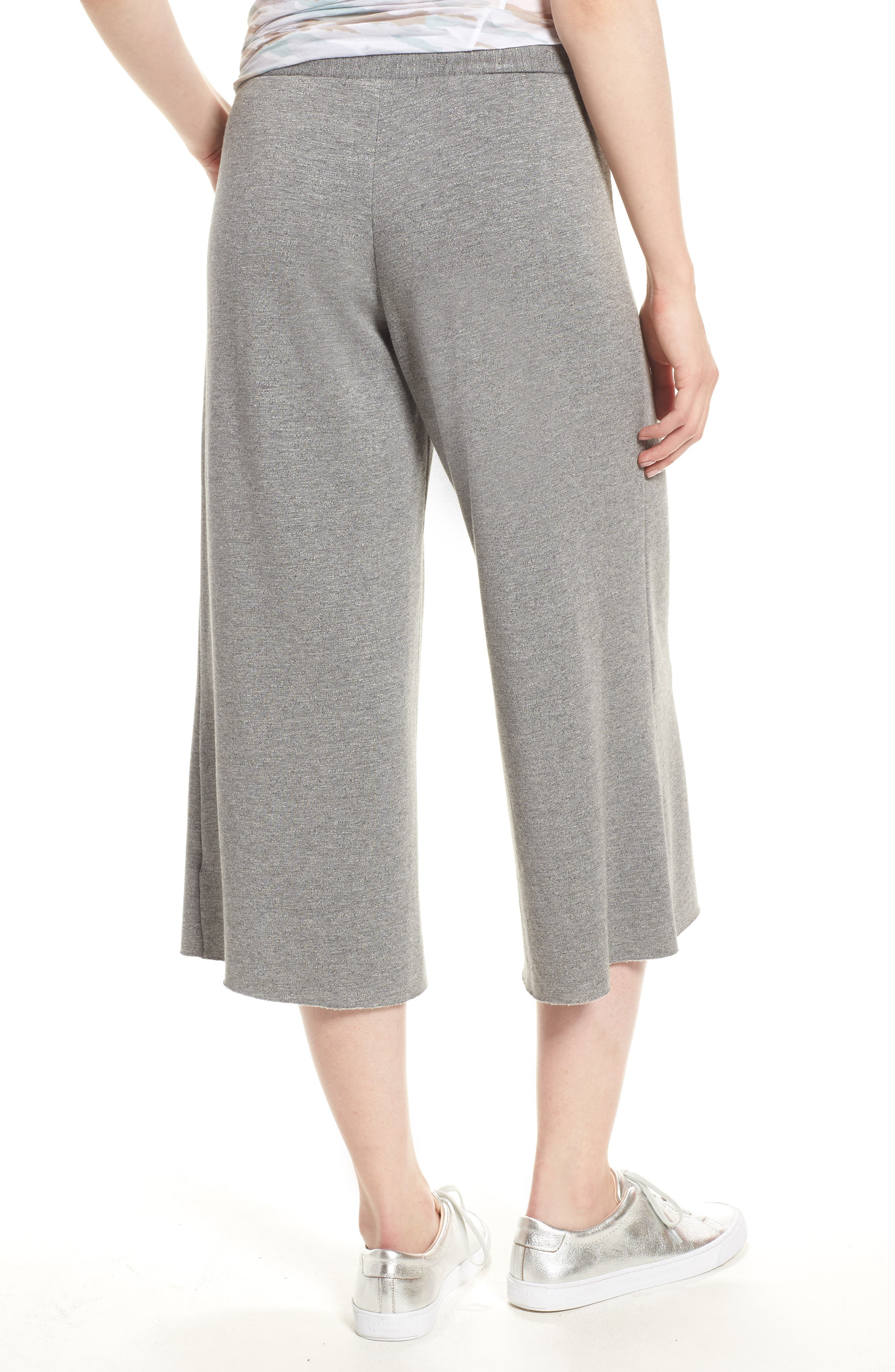 Flare Fleece Pants,                             Alternate thumbnail 2, color,                             Heather Grey