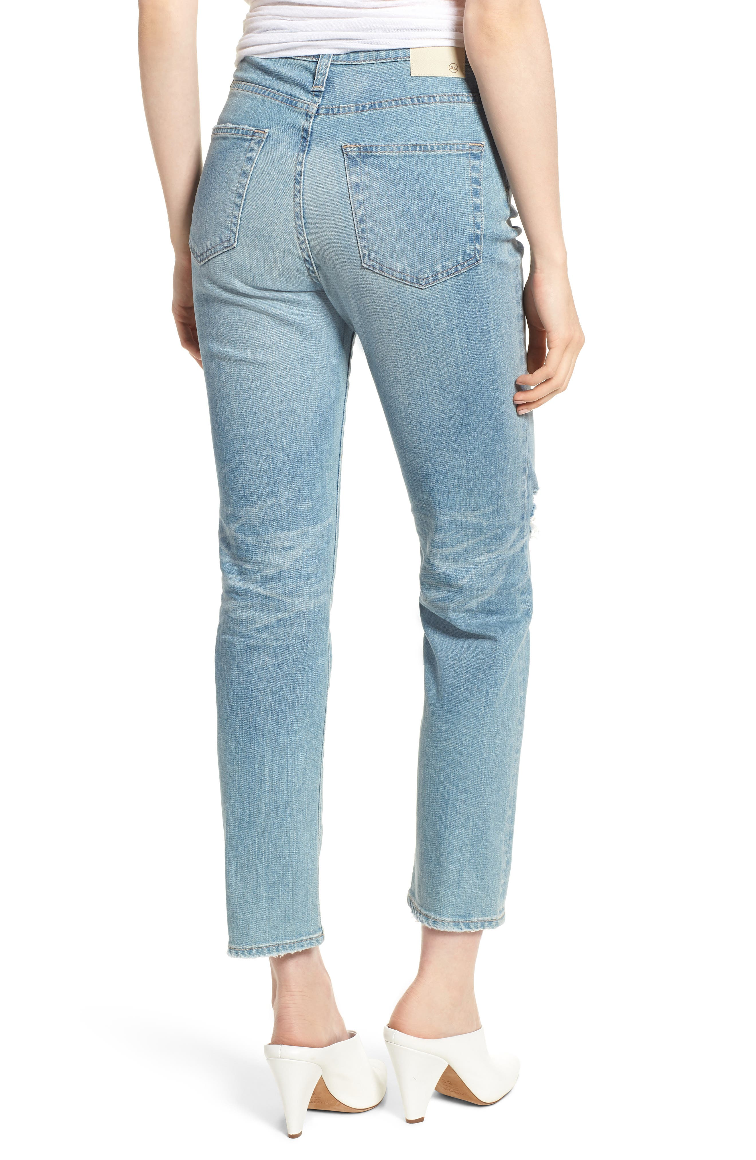 'The Phoebe' Vintage High Rise Straight Leg Jeans,                             Alternate thumbnail 2, color,                             18 Years Headlands