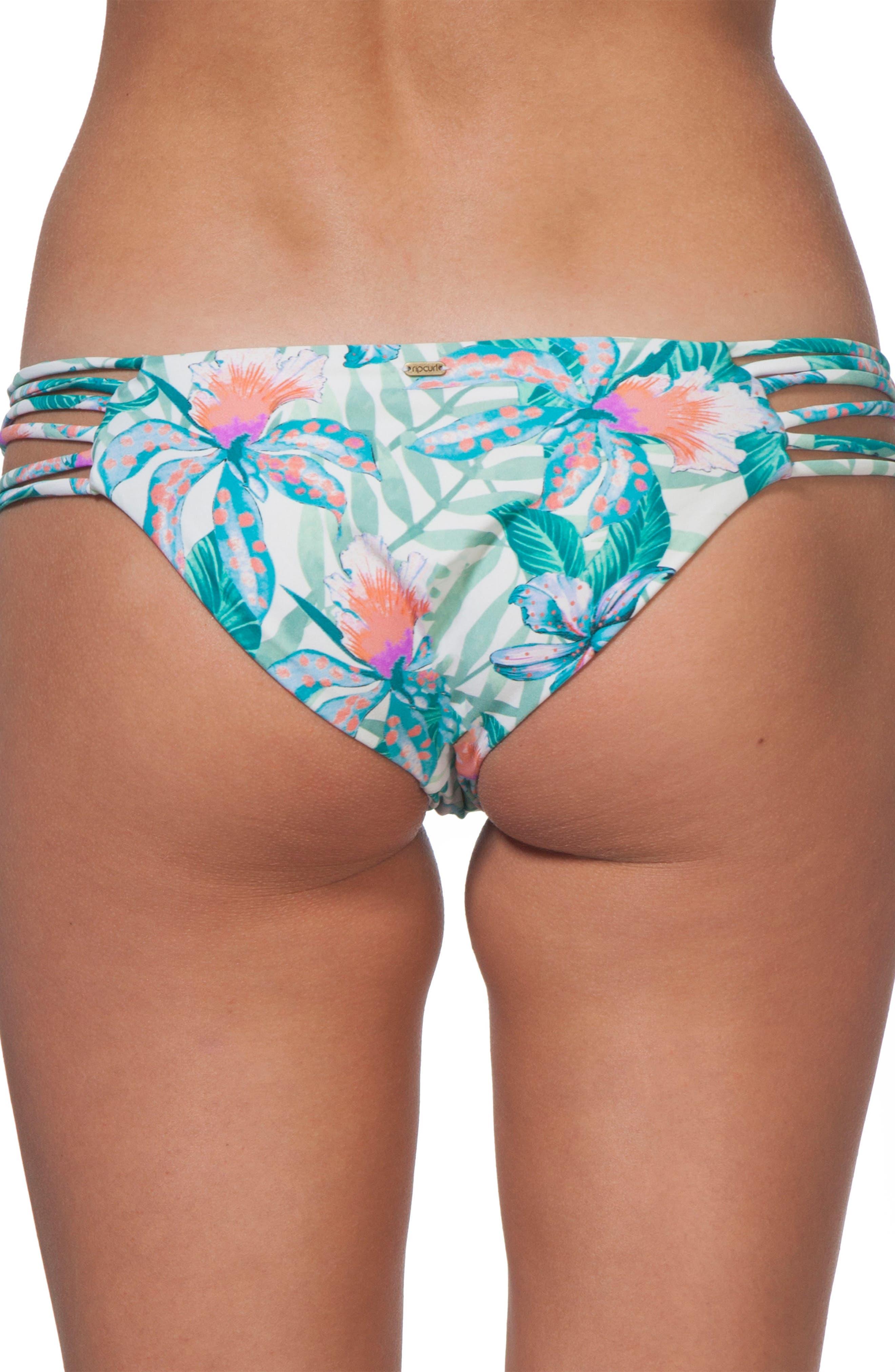Tropic Tribe Luxe Hipster Bikini Bottoms,                             Alternate thumbnail 2, color,                             White