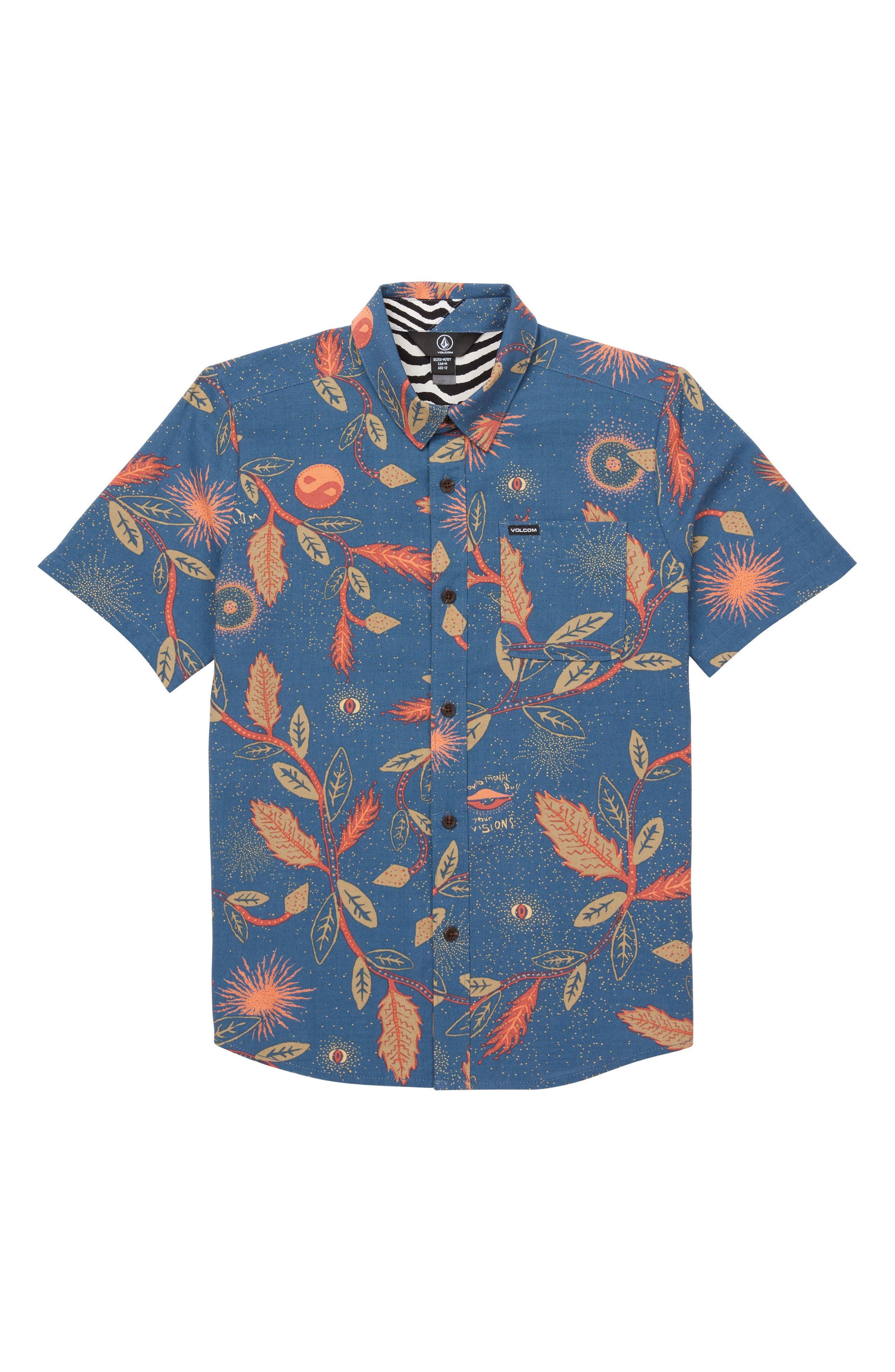 Volcom Bleeker Print Woven Shirt (Big Boys)