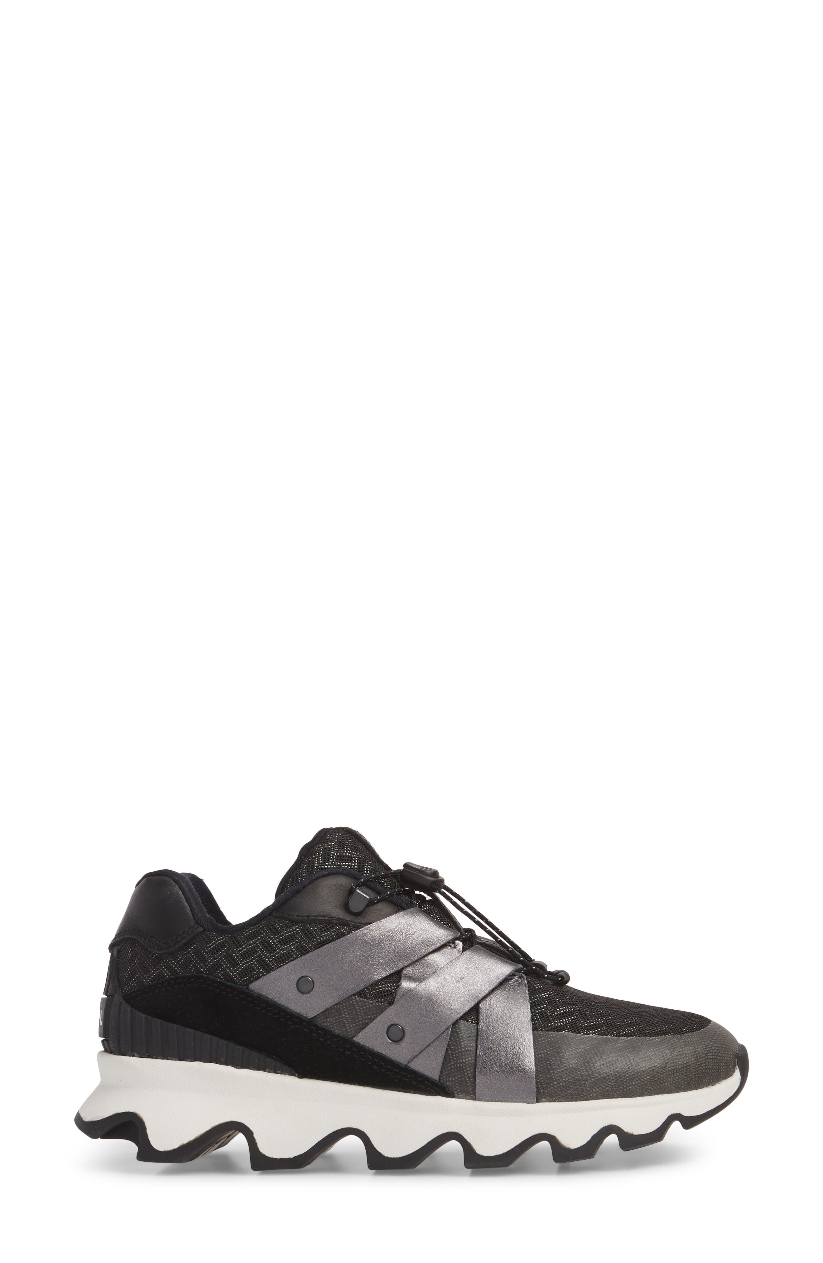 Kinetic Speed Sneaker,                             Alternate thumbnail 3, color,                             Black/ Sea Salt