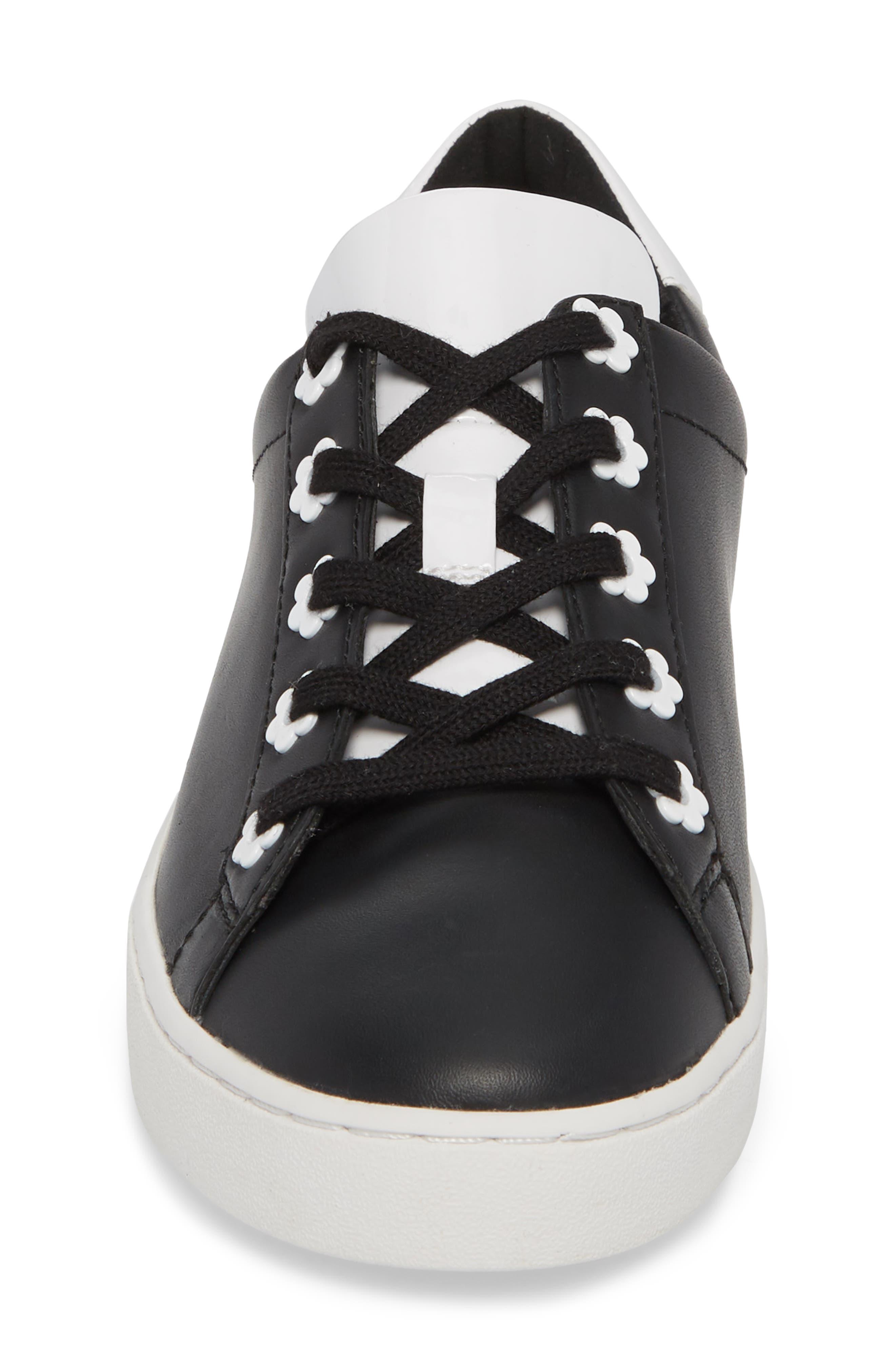 Irving Sneaker,                             Alternate thumbnail 4, color,                             Black/ Optic White