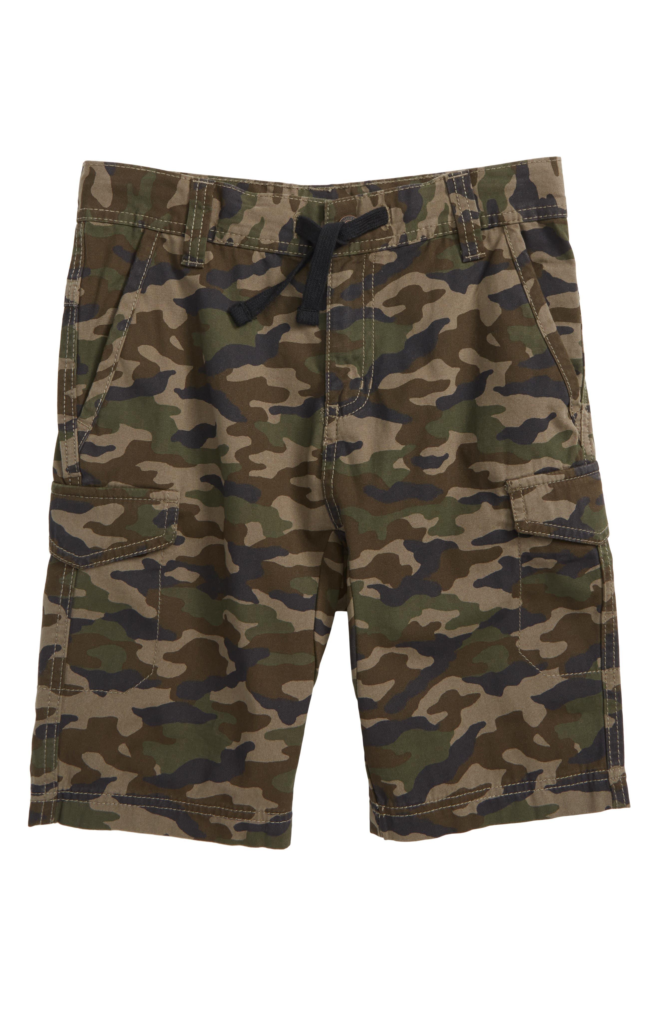 Camo Cargo Shorts,                         Main,                         color, Olive Brown Camo