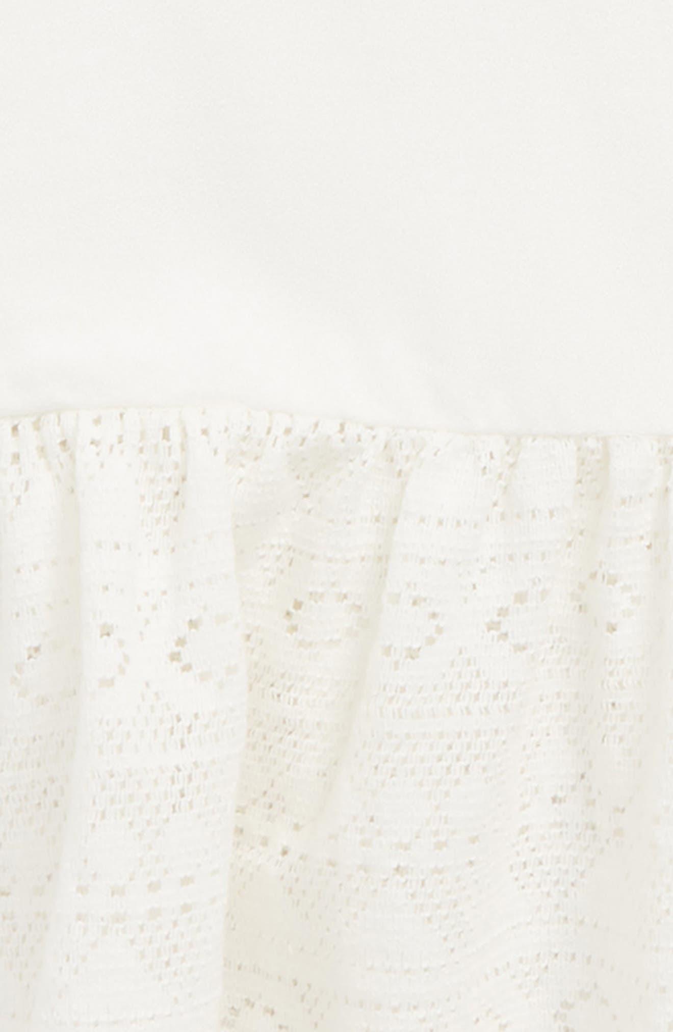 Lace Peplum Tank,                             Alternate thumbnail 2, color,                             Ivory Egret