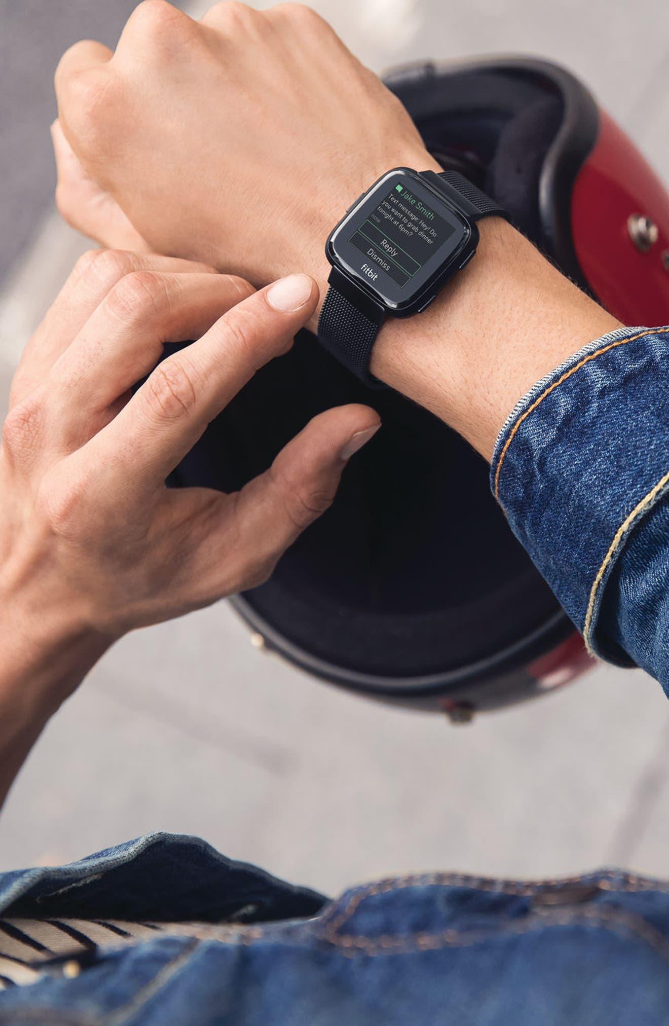 Versa Mesh Strap Watch Band,                             Alternate thumbnail 3, color,