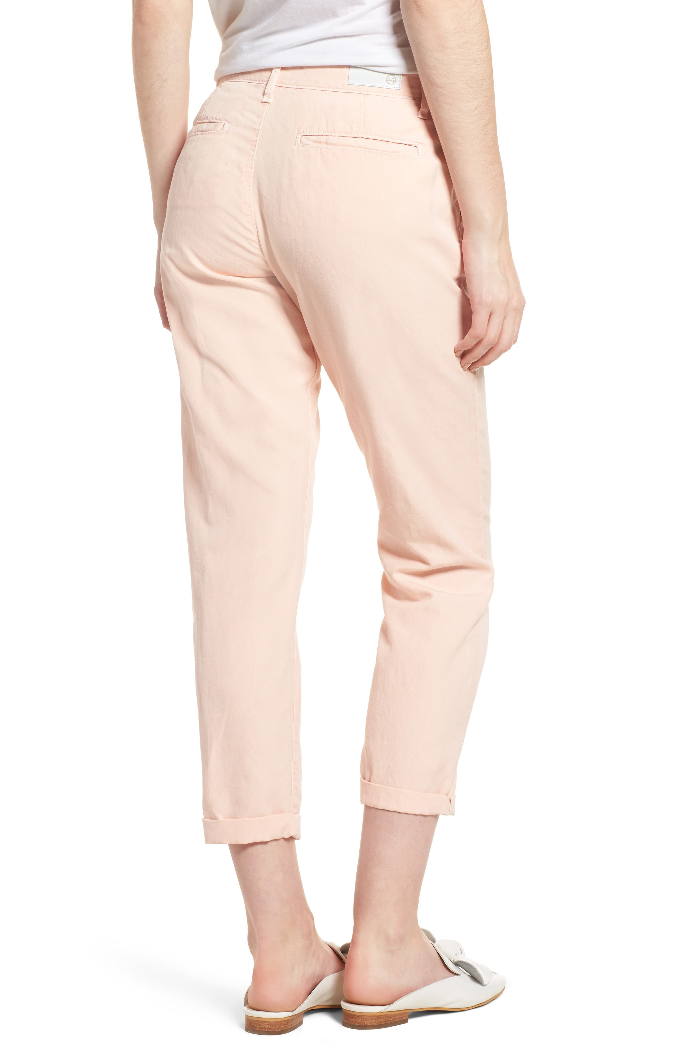 Caden Crop Twill Trousers,                             Alternate thumbnail 2, color,                             Sulfur Prism Pink
