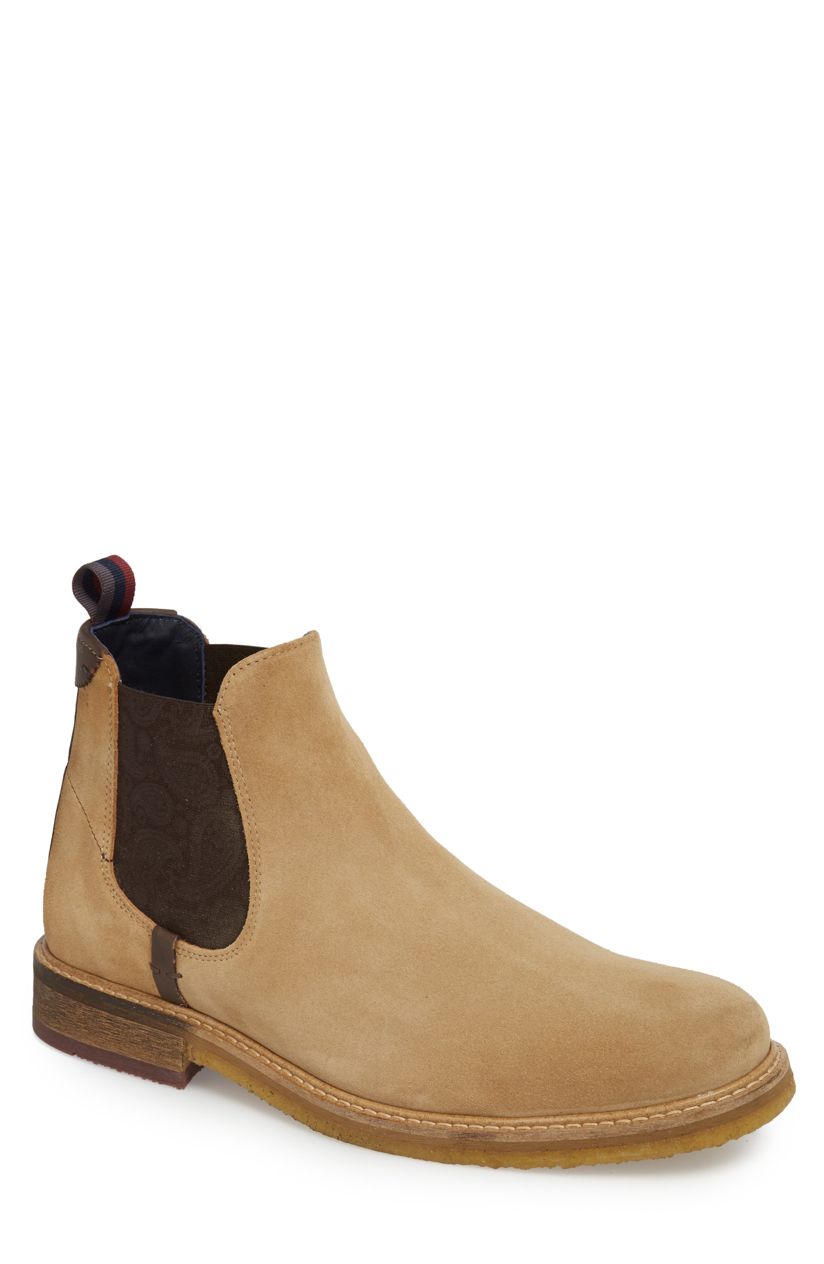 Bronzo Chelsea Boot,                             Main thumbnail 1, color,                             Sand Suede