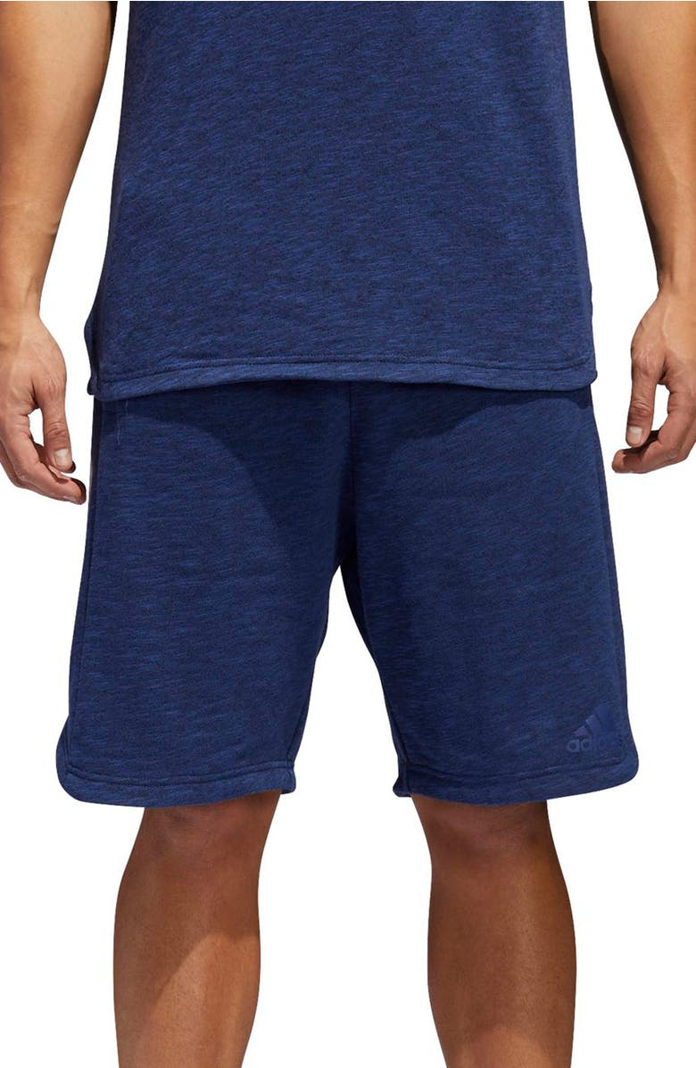 check out 856f0 c9116 Adidas Originals Pick Up Knit Shorts In Noble Indigo