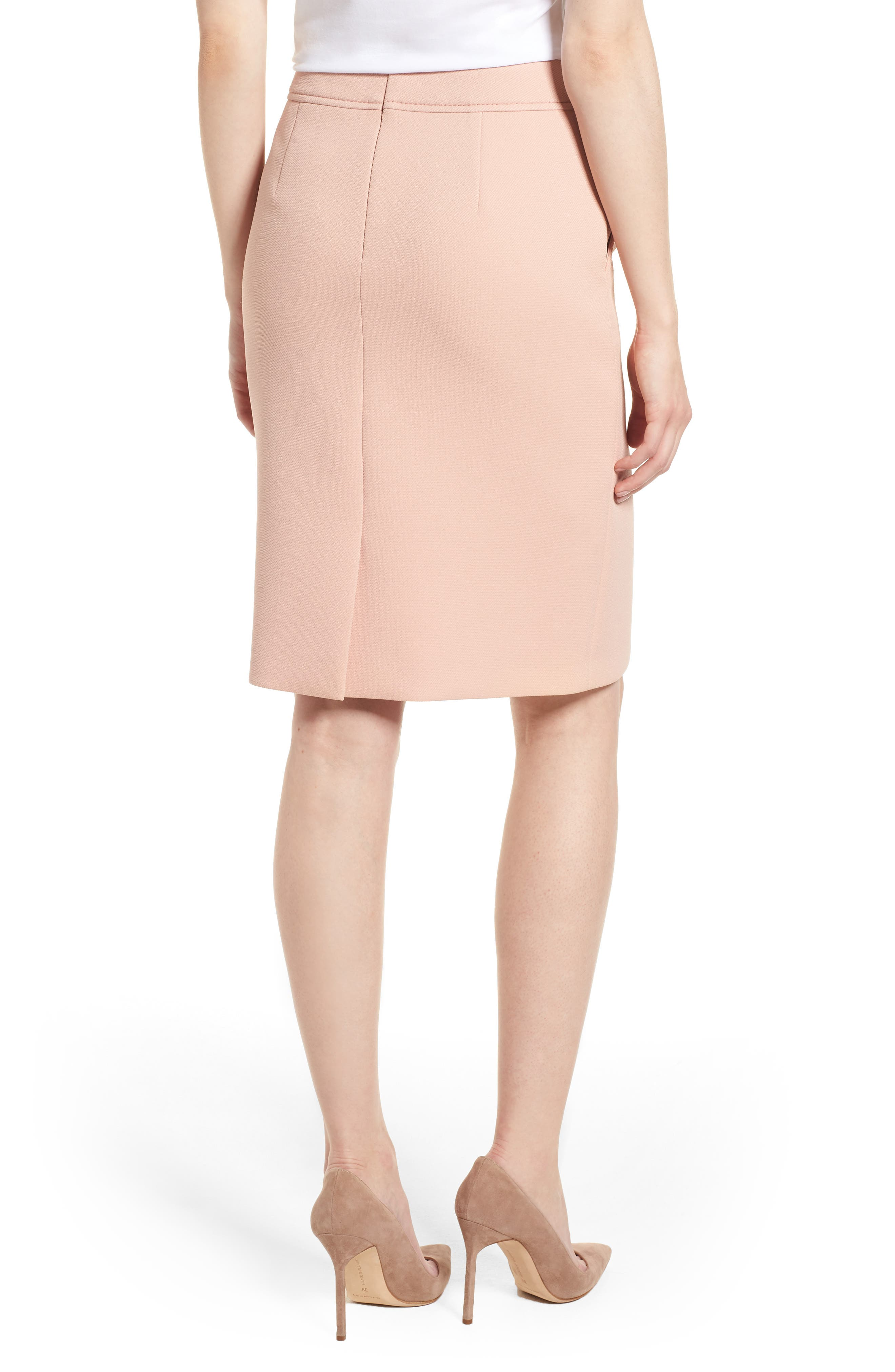Vuleama Compact Twill Pencil Skirt,                             Alternate thumbnail 2, color,                             Blush
