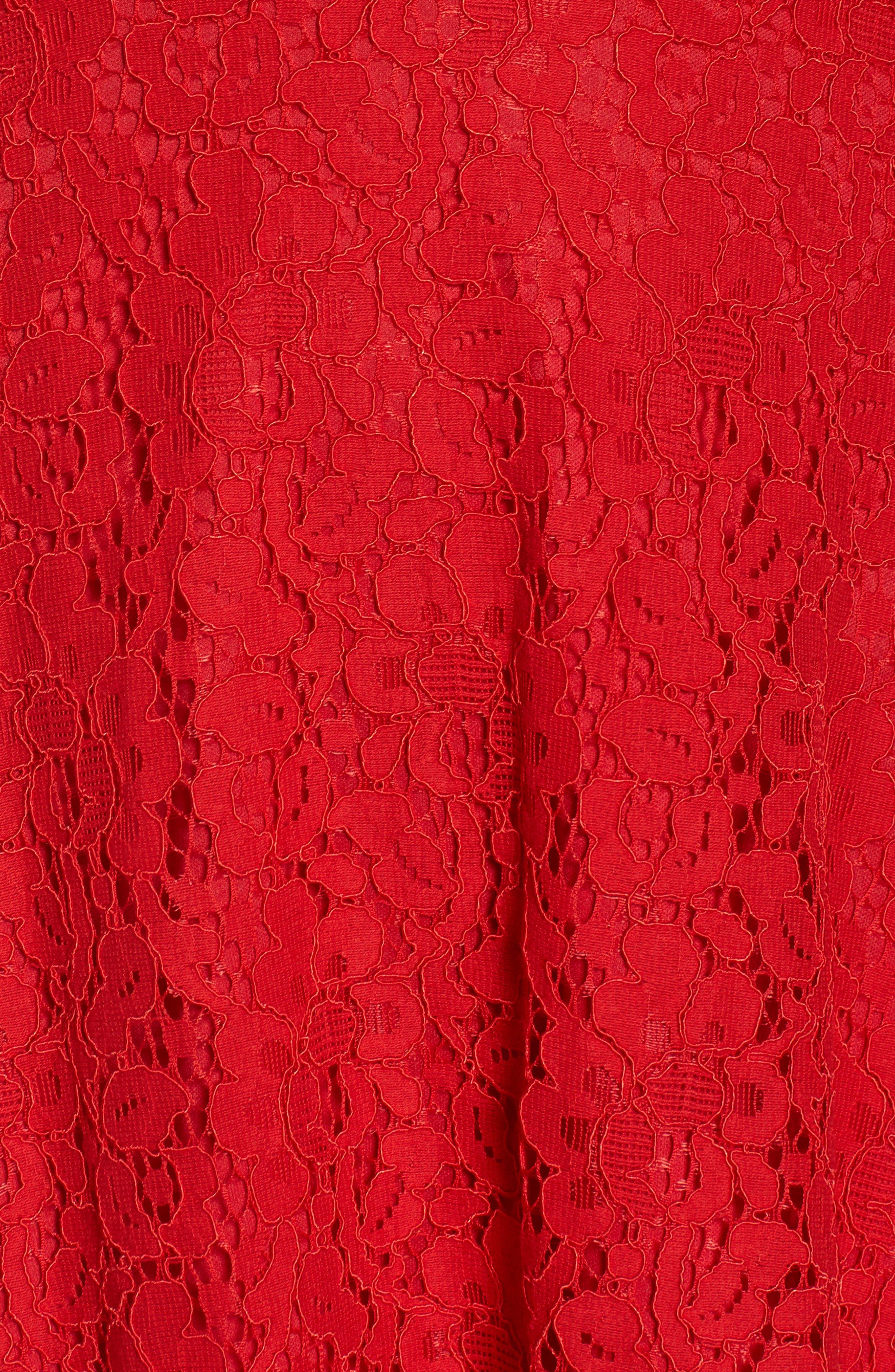 Alternate Image 5  - Soprano Strappy Lace Fit & Flare Dress