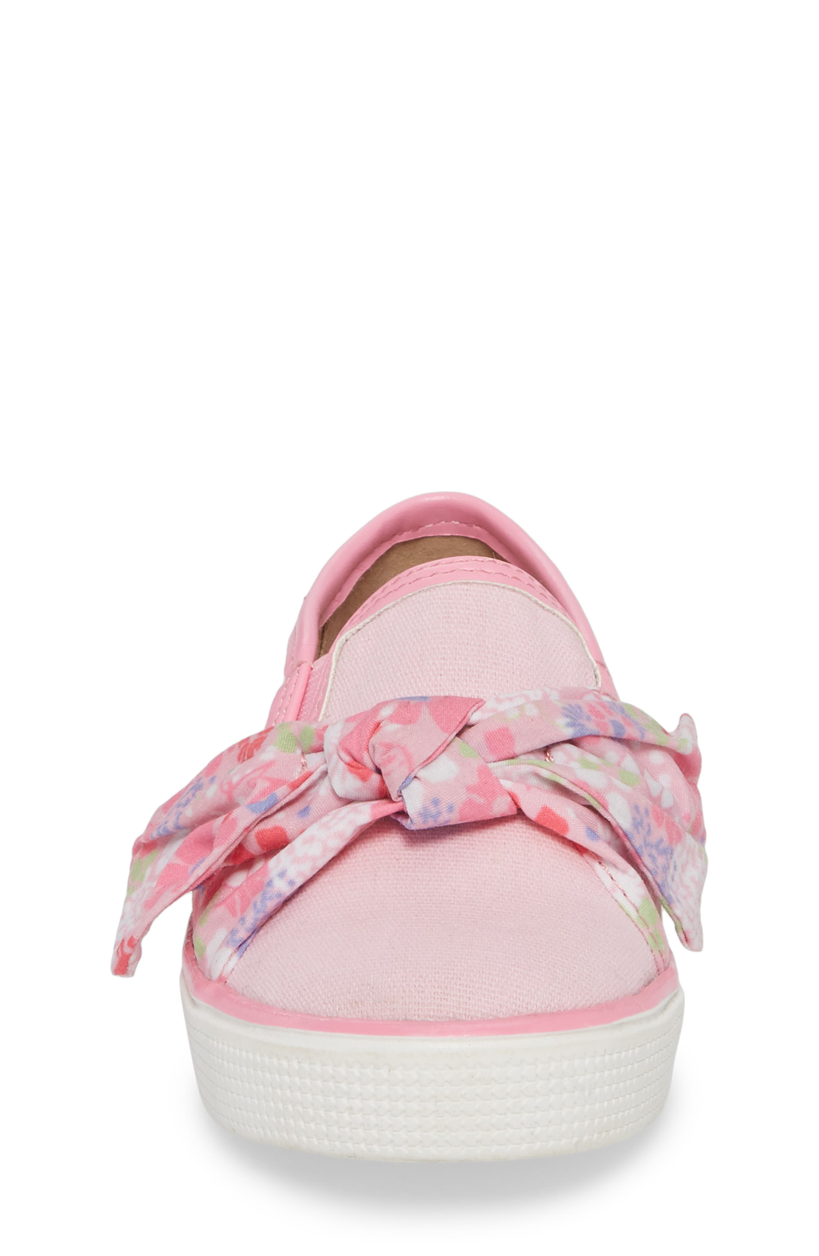 Ashlyn Bow Slip-On Sneaker,                             Alternate thumbnail 8, color,                             Orchid Pink