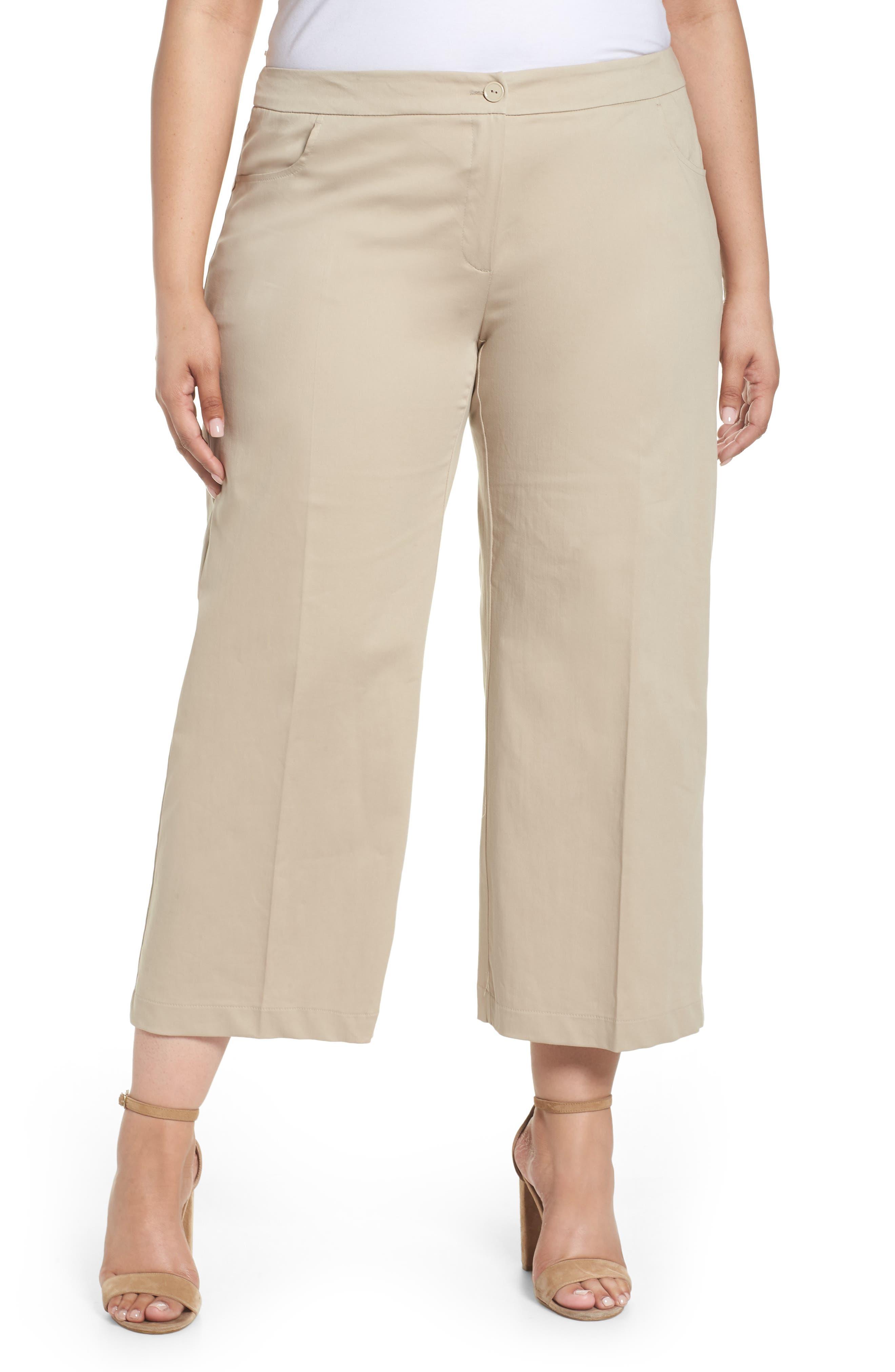 Crop Pants,                         Main,                         color, Dark Beige