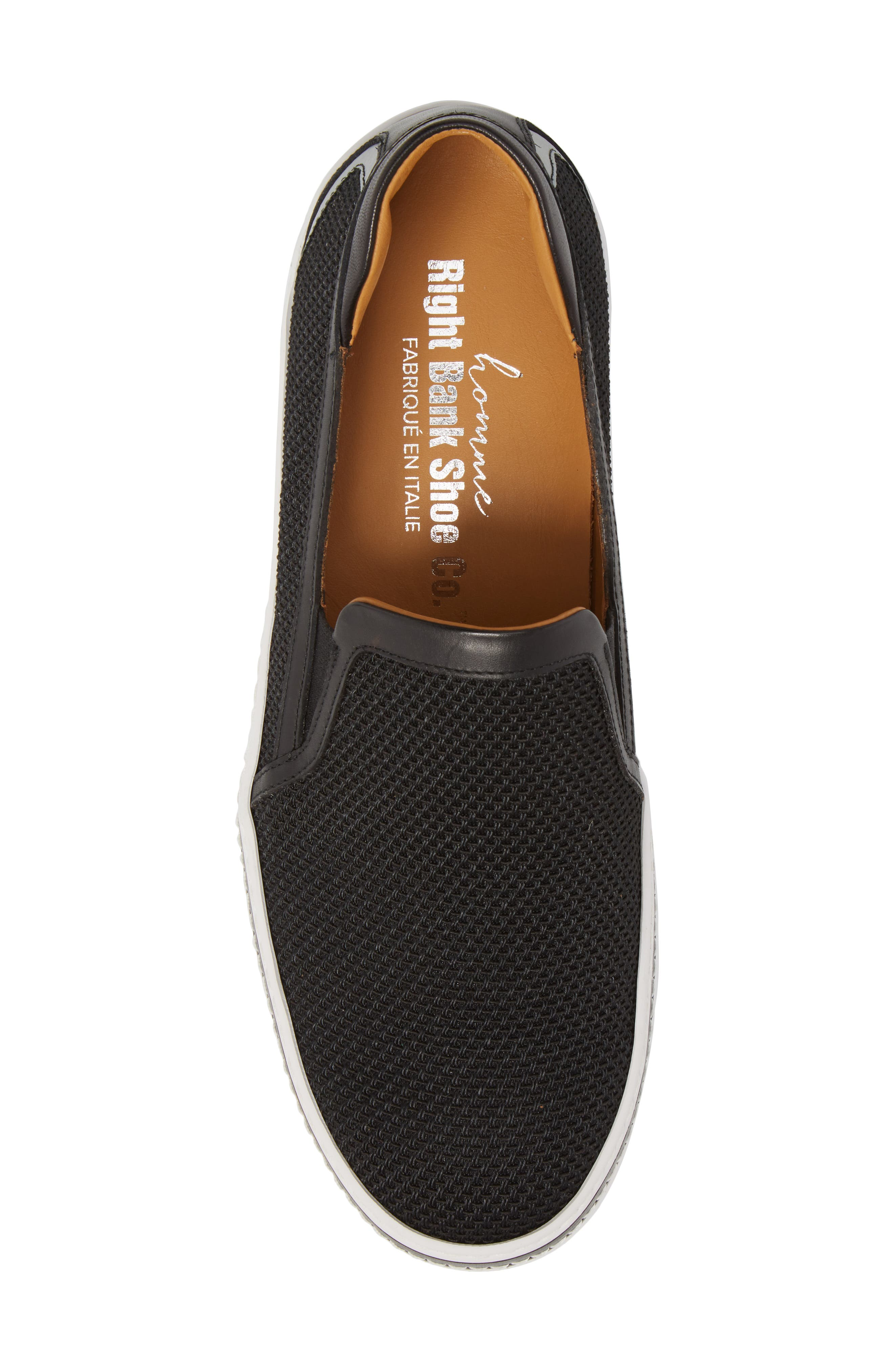 Sal Mesh Slip-On Sneaker,                             Alternate thumbnail 5, color,                             Black Mesh