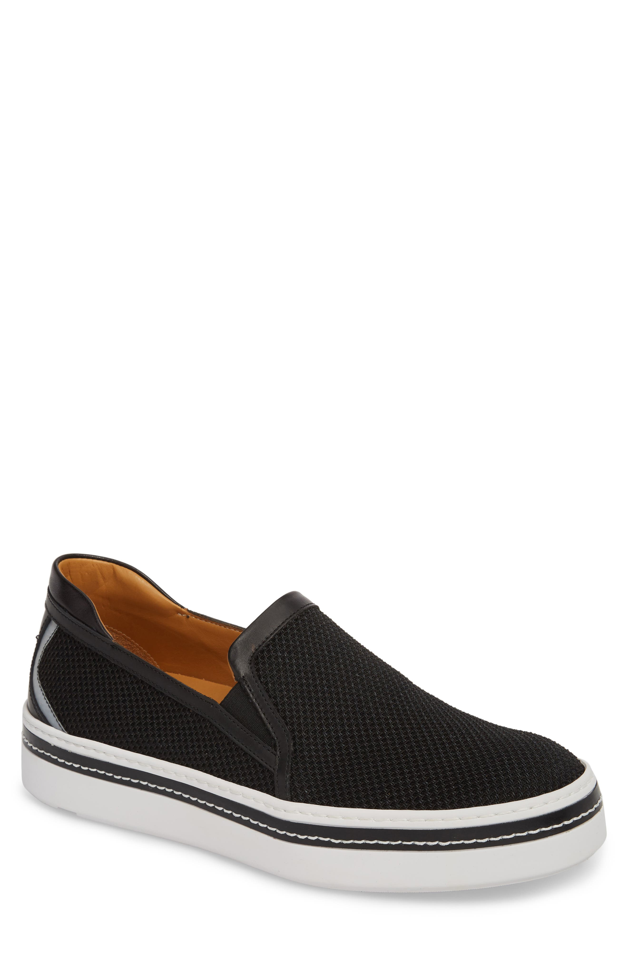Sal Mesh Slip-On Sneaker,                             Main thumbnail 1, color,                             Black Mesh
