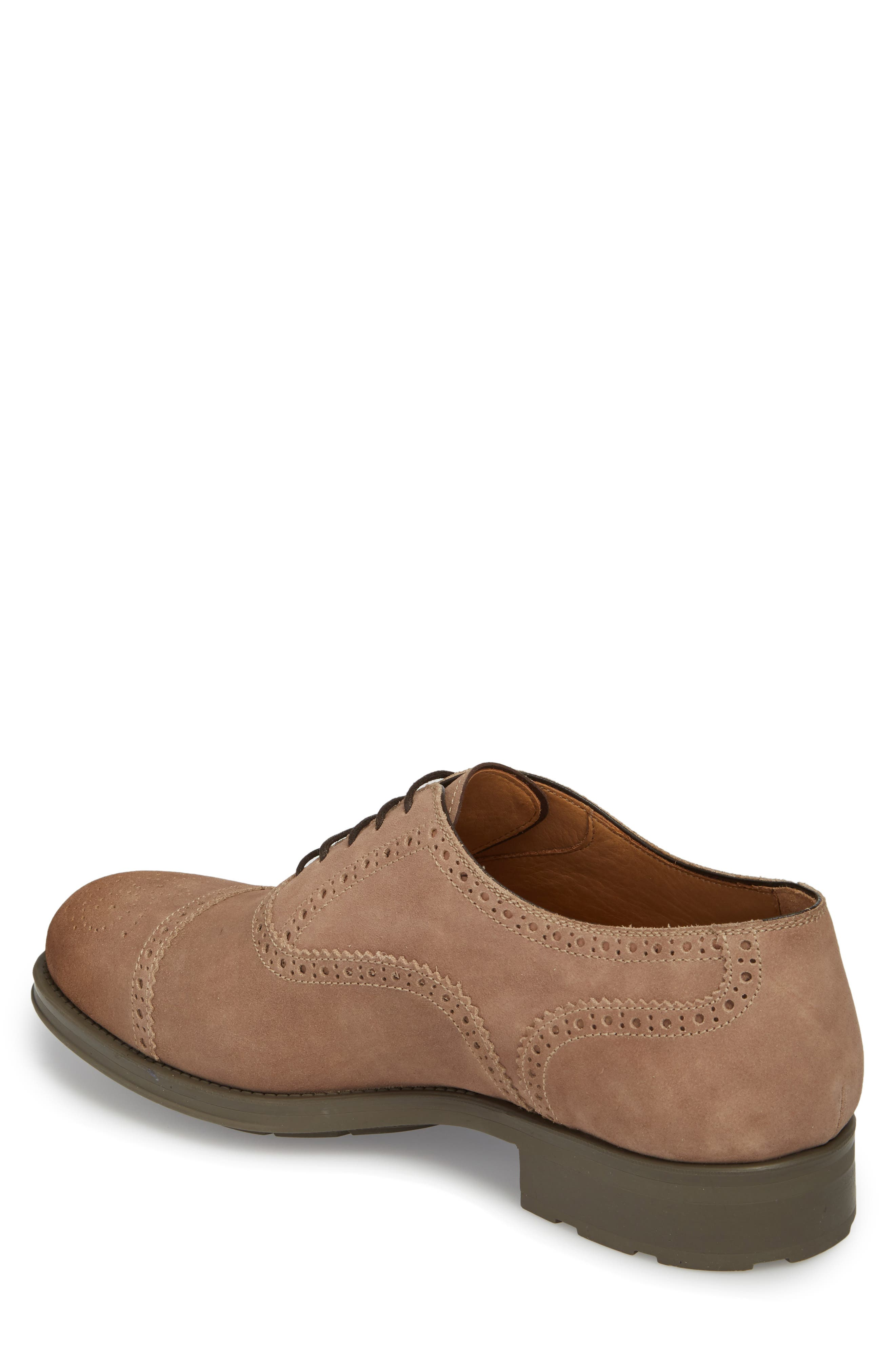 Winslo Cap Toe Oxford,                             Alternate thumbnail 2, color,                             Khaki Leather