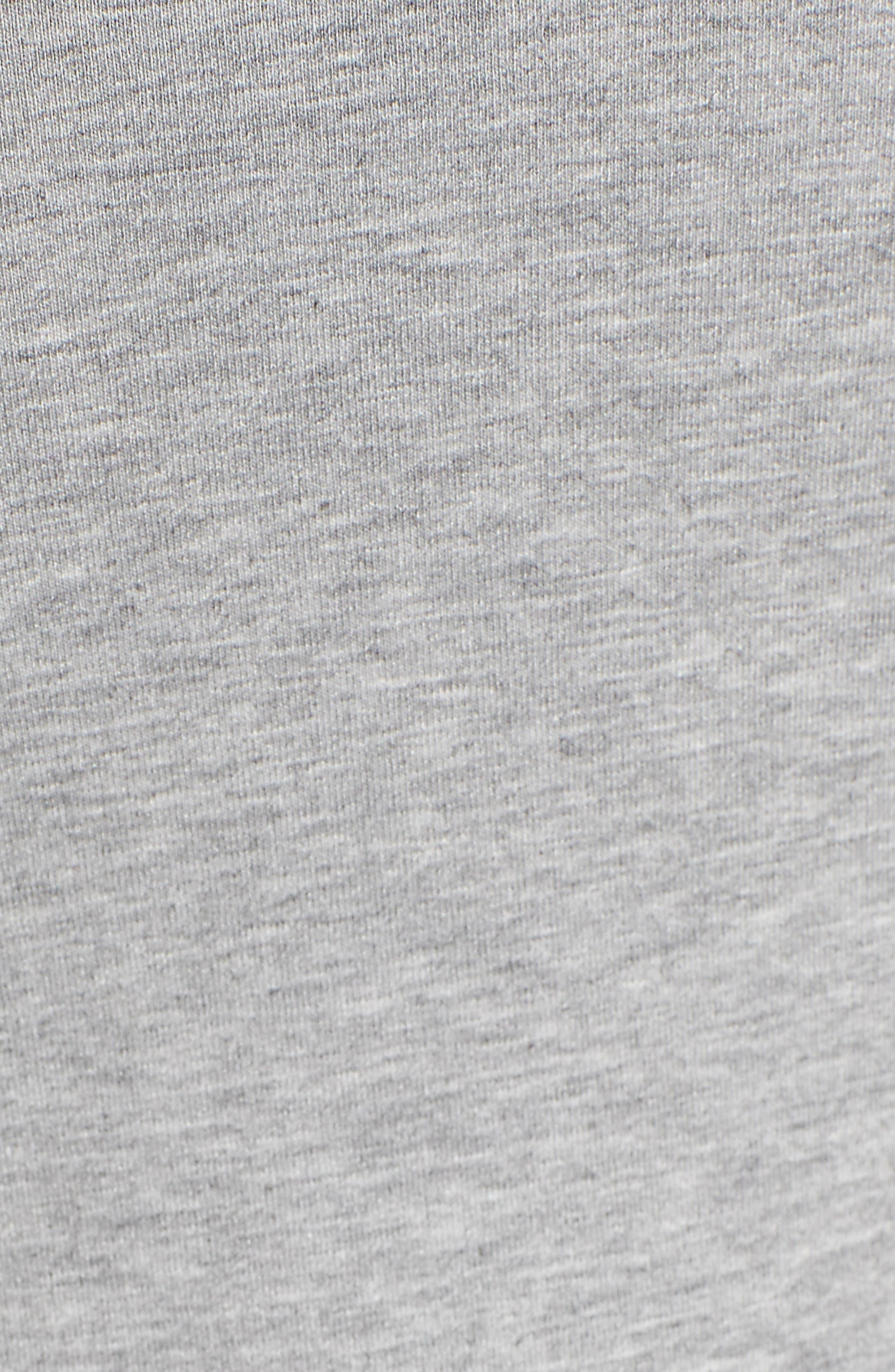 Logo Stripe Sleeve Bodysuit,                             Alternate thumbnail 5, color,                             Grey Marl