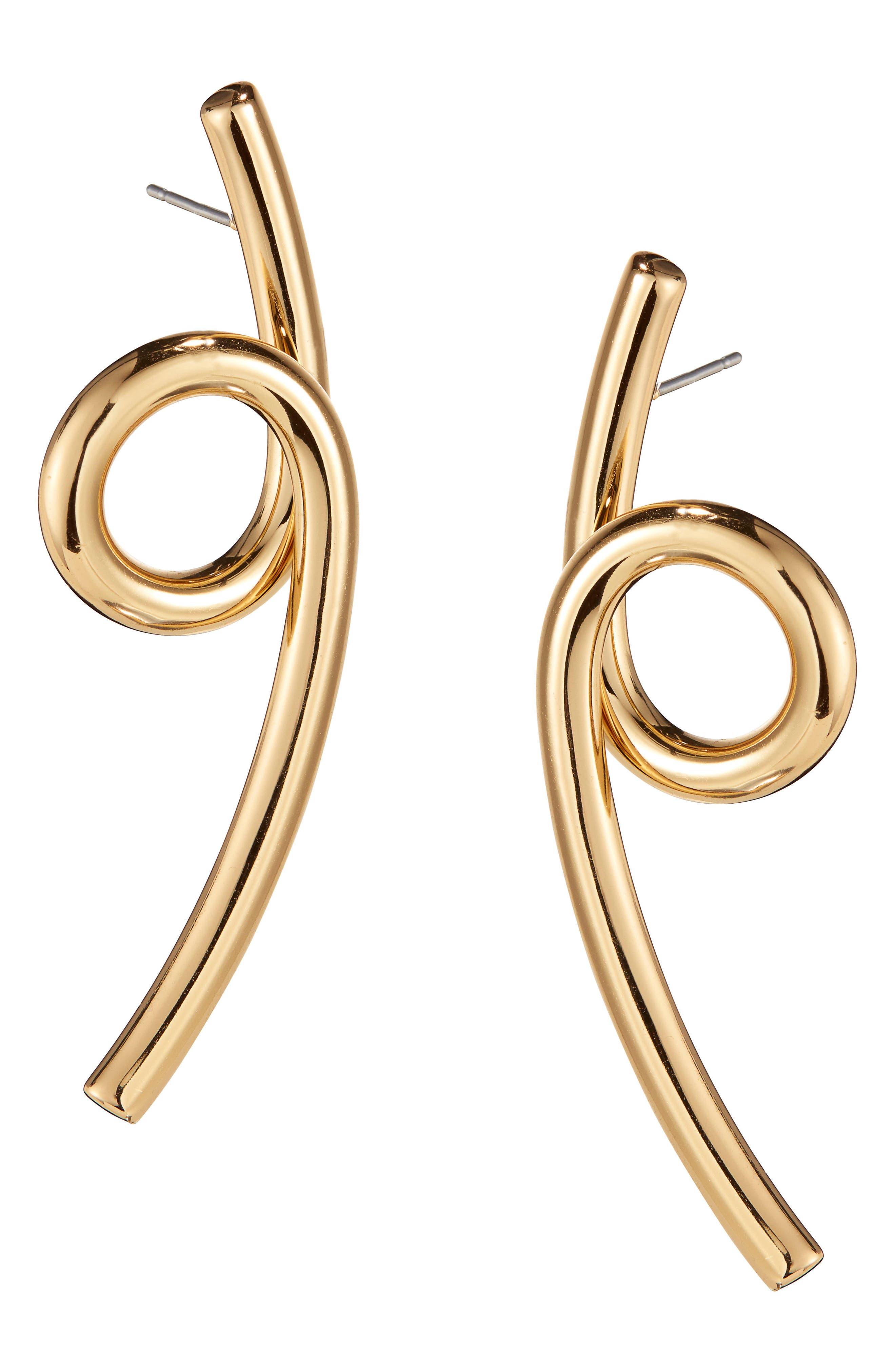 Coil Earrings,                         Main,                         color, High Polish Gold