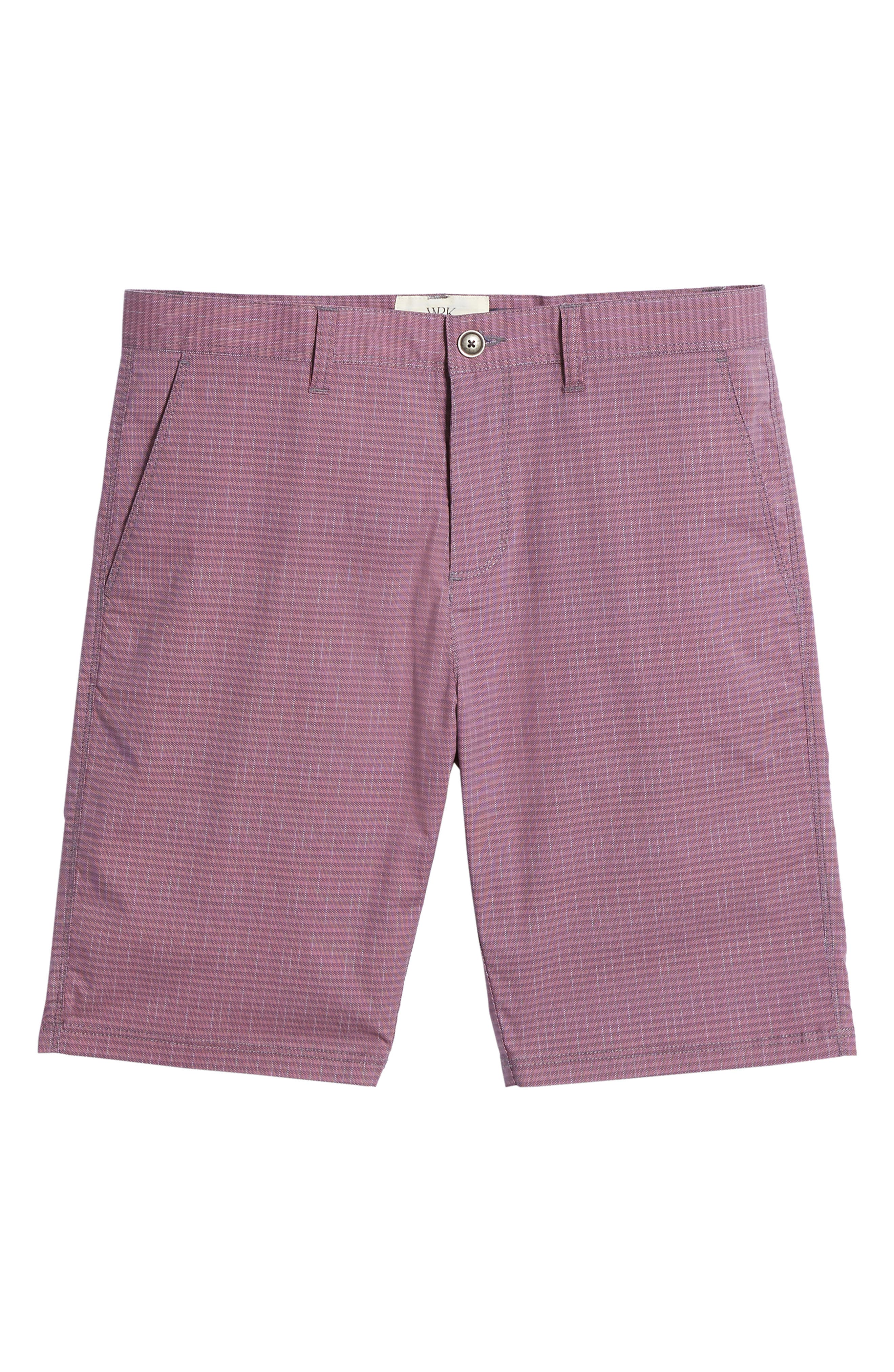 Textured Stretch Shorts,                             Alternate thumbnail 6, color,                             Pink