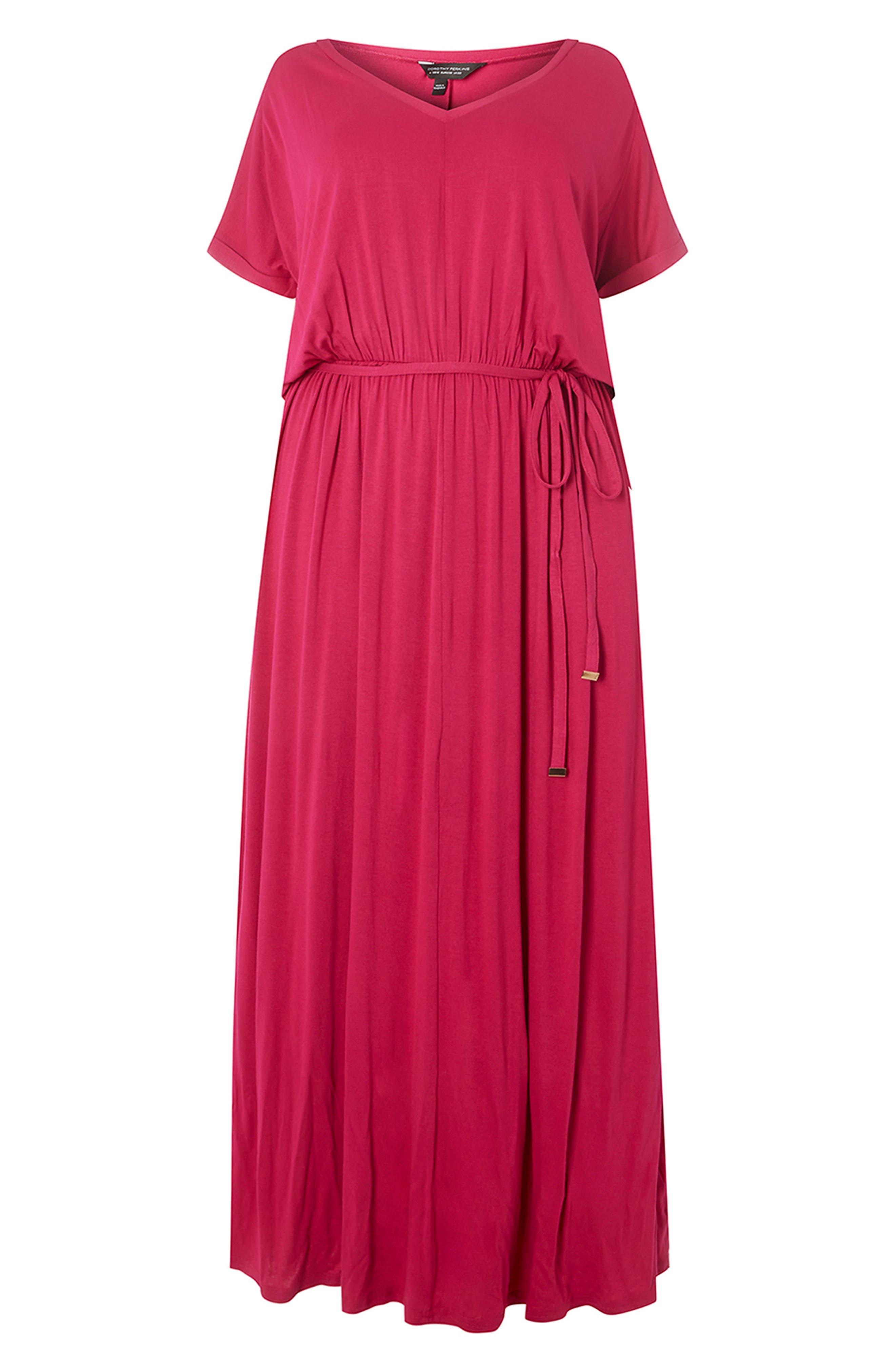 Jersey Maxi Dress,                             Alternate thumbnail 7, color,                             Pink