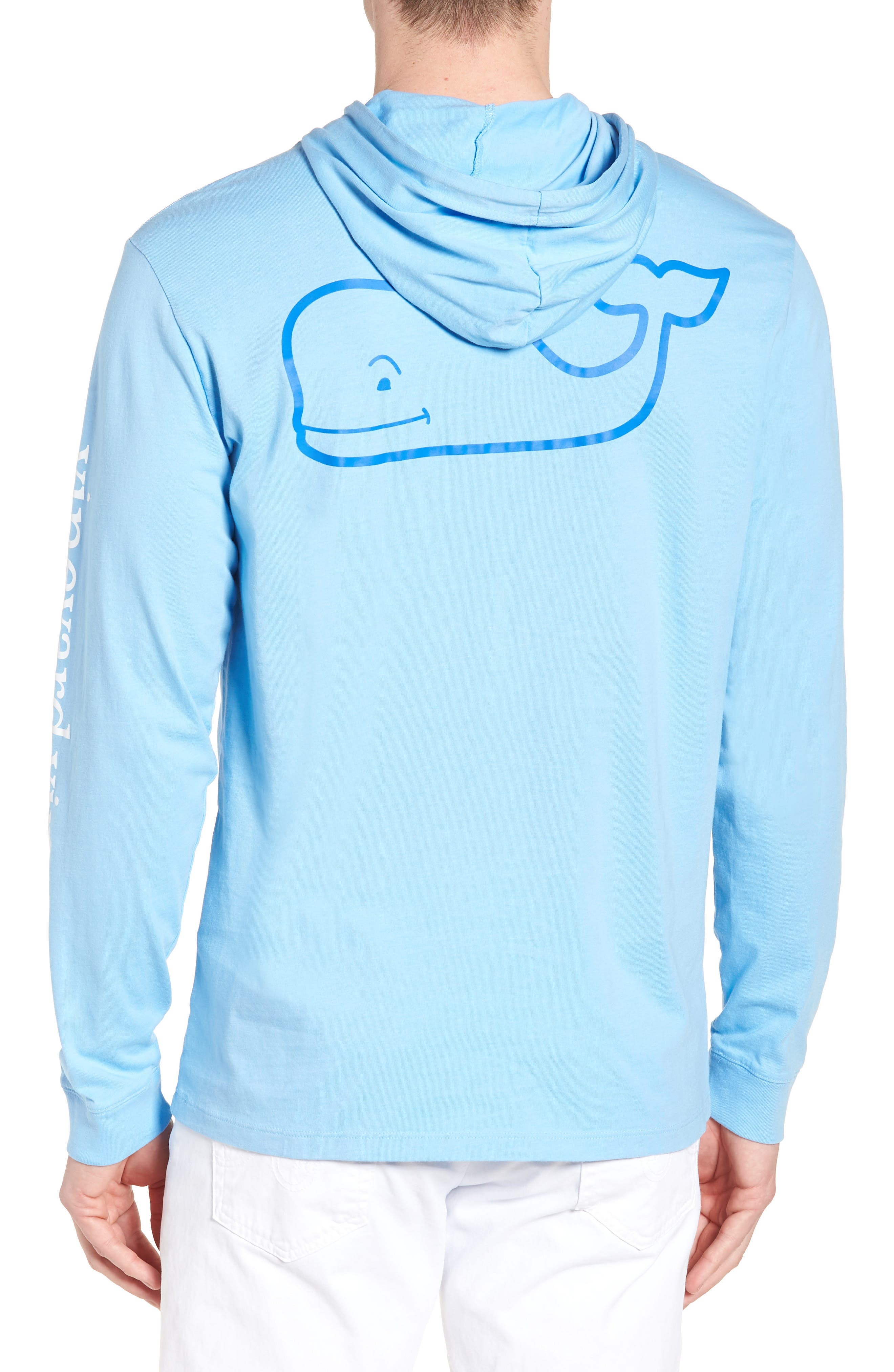 Whale Graphic Hooded T-Shirt,                             Alternate thumbnail 2, color,                             Ocean Breeze