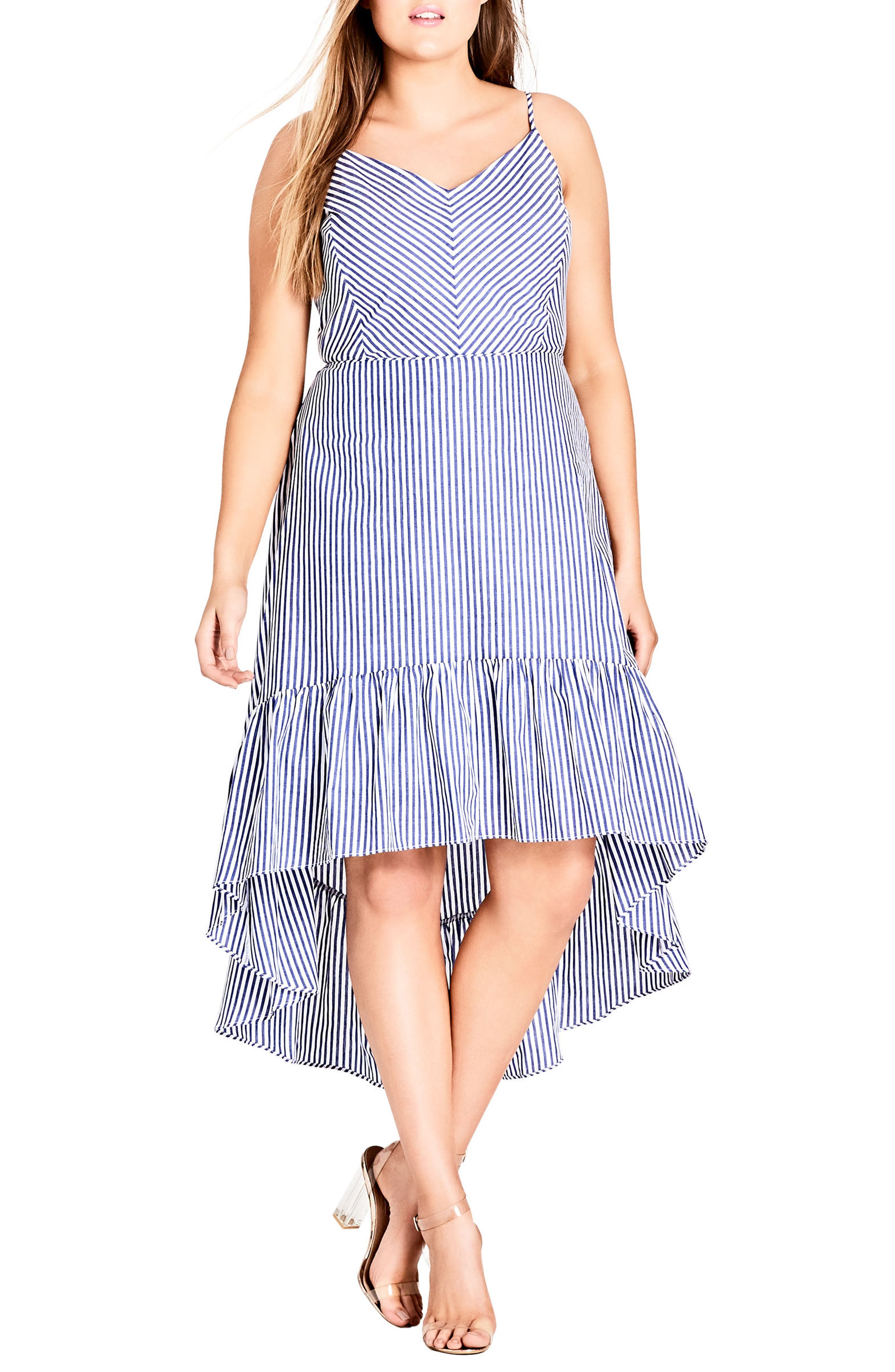 Mallorca Stripe Maxi Dress,                             Main thumbnail 1, color,                             Blue Stripe