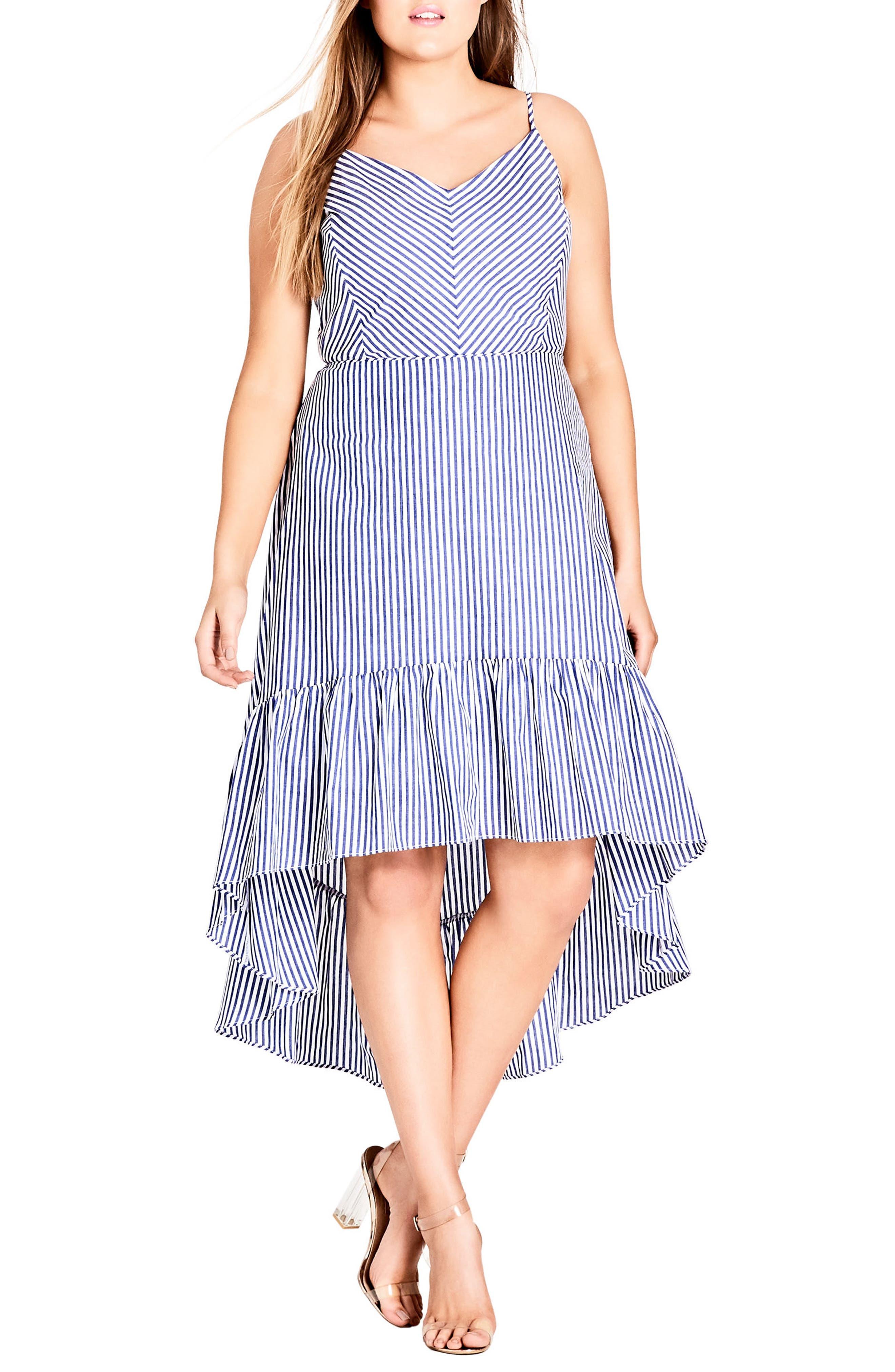 Mallorca Stripe Maxi Dress,                         Main,                         color, Blue Stripe