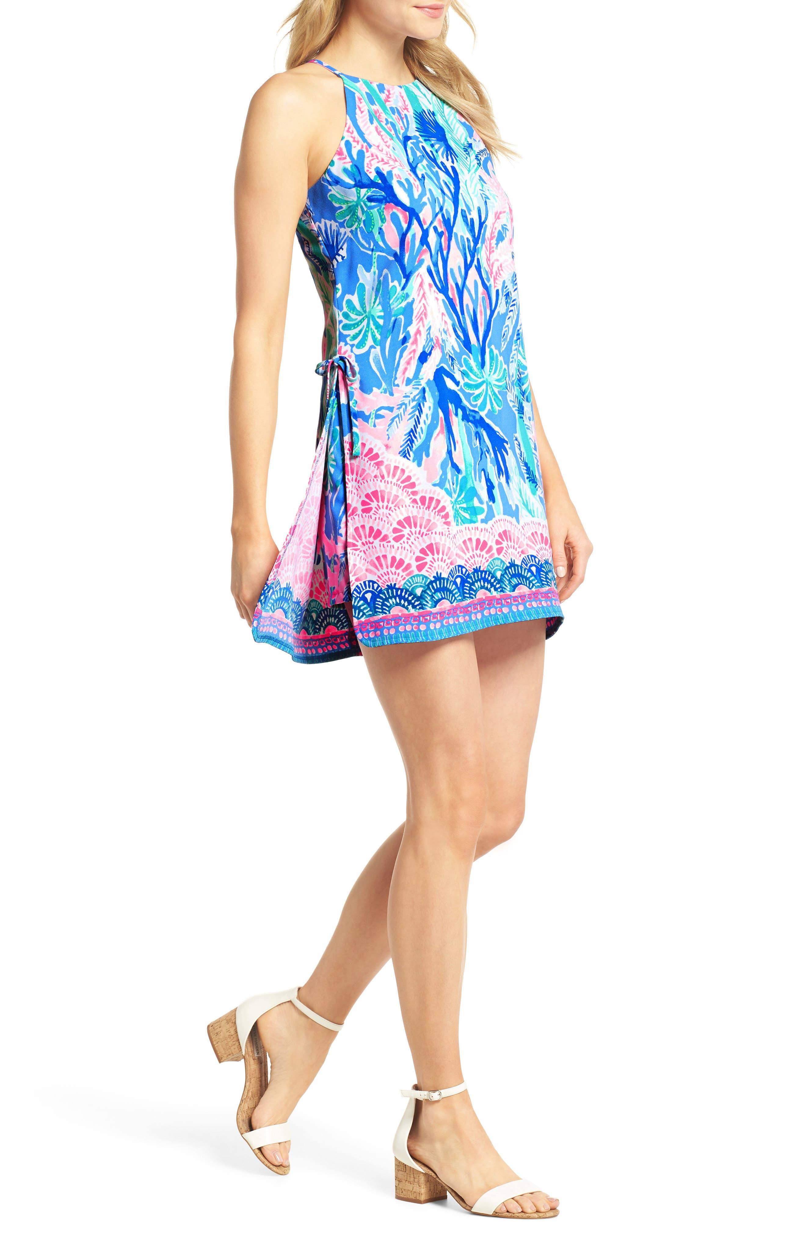 Pearl Romper Dress,                             Main thumbnail 1, color,                             Multi Jet Stream