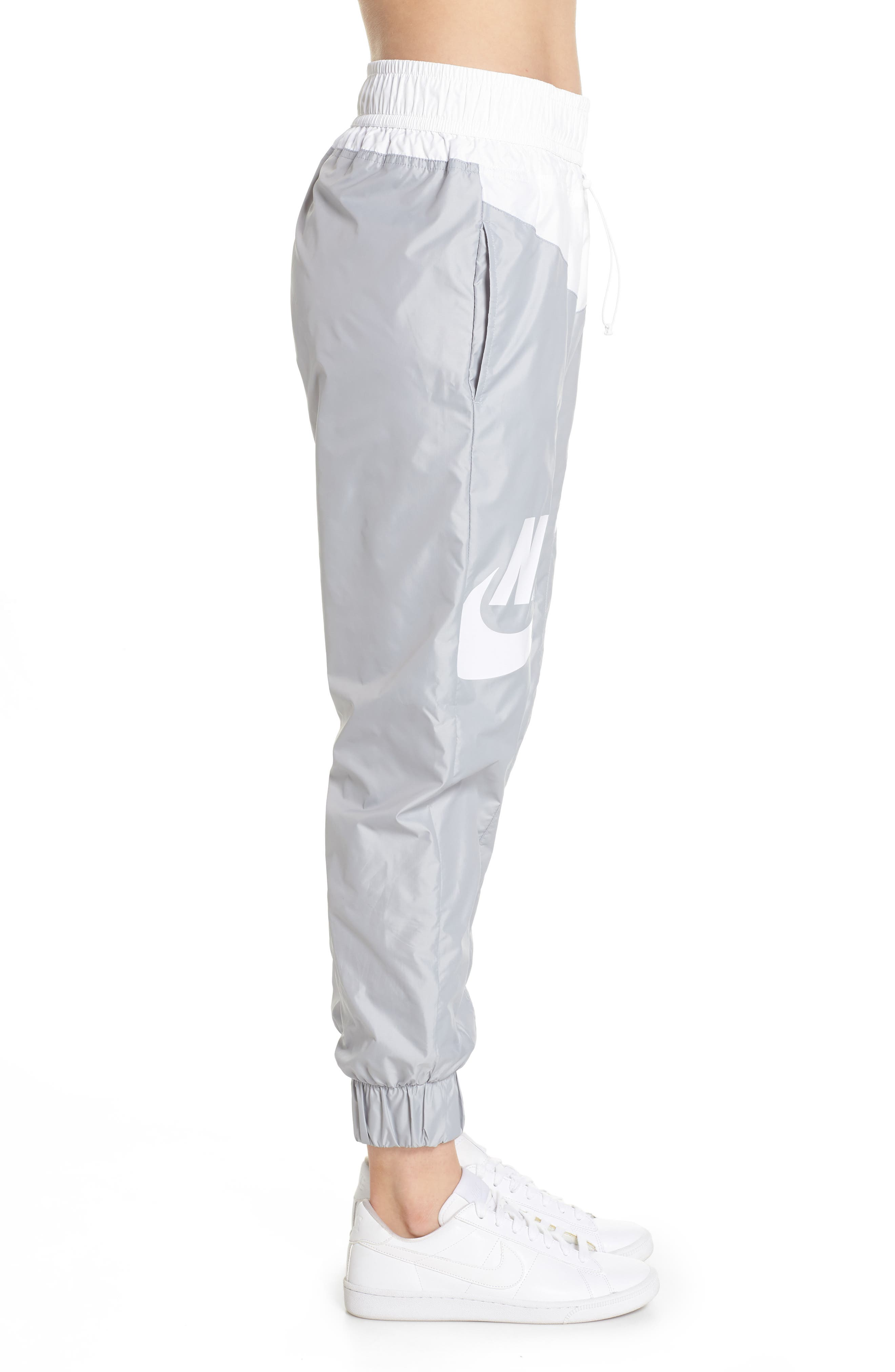 Sportswear Windrunner pants,                             Alternate thumbnail 3, color,                             Wolf Grey/ Summit White