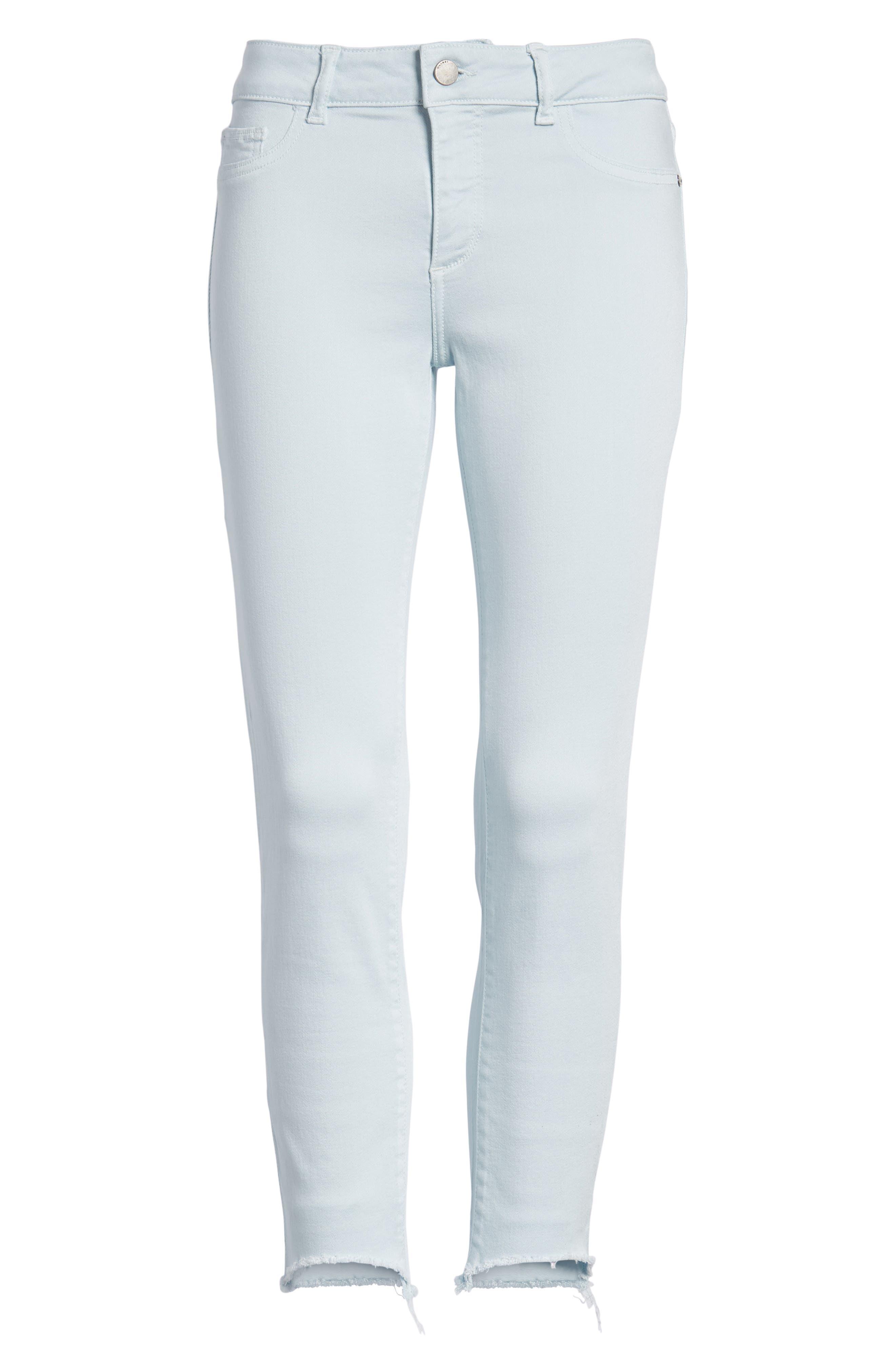 Florence Instasculpt Crop Skinny Jeans,                             Alternate thumbnail 7, color,                             Sky