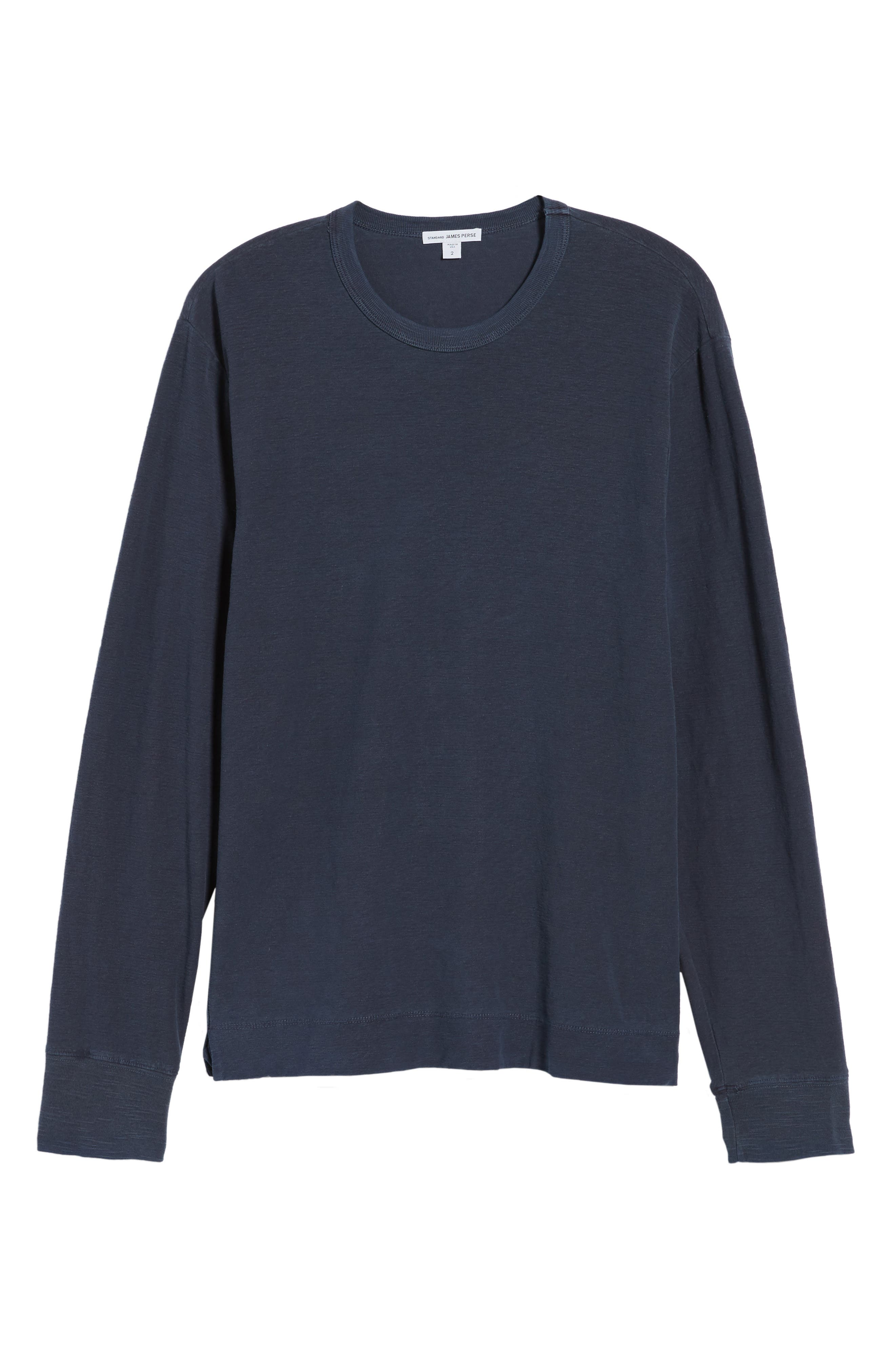 Regular Fit Slub Crewneck T-Shirt,                             Alternate thumbnail 6, color,                             Blue