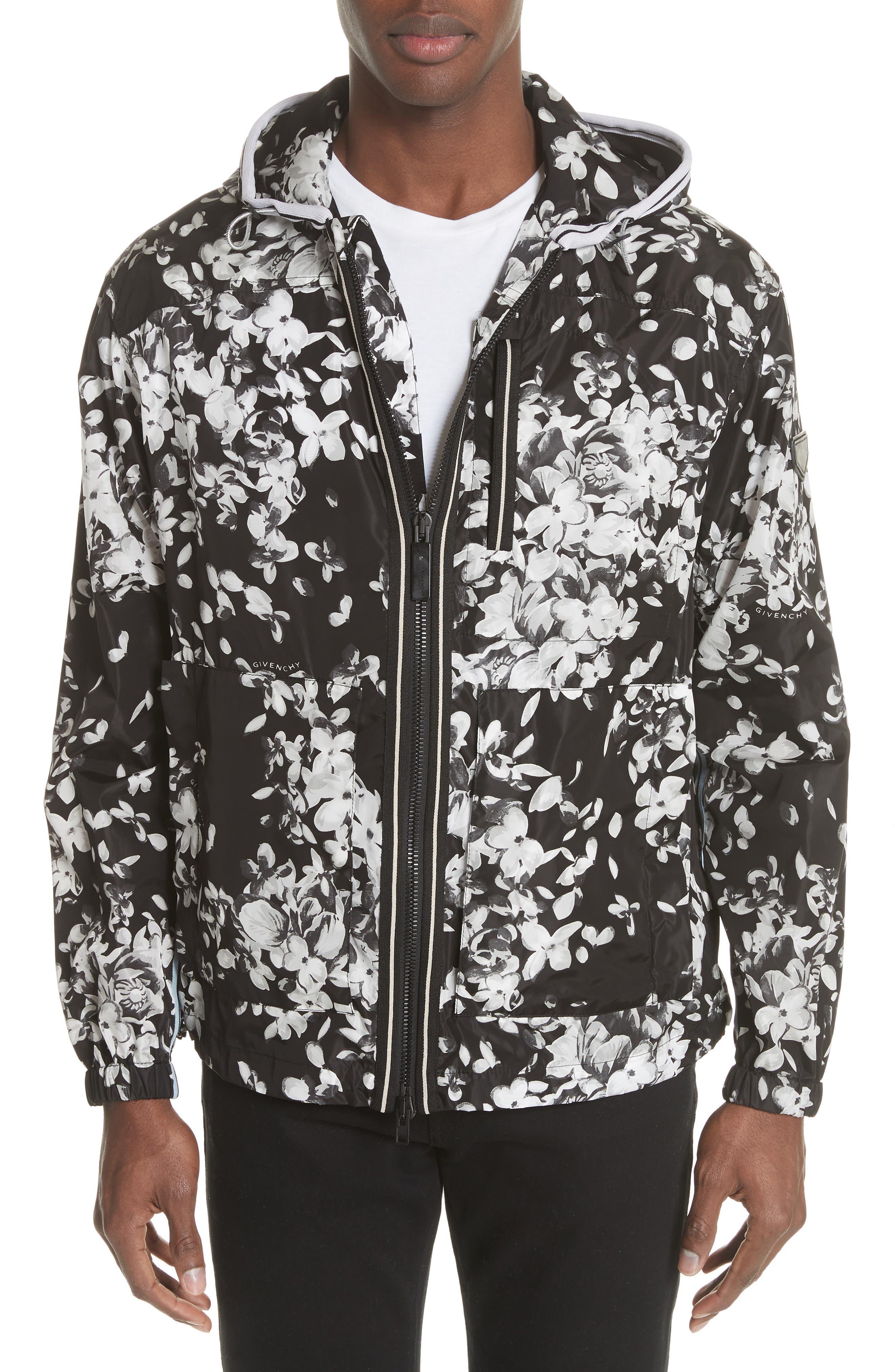 Givenchy x K-Way Hydrangea Print Windbreaker