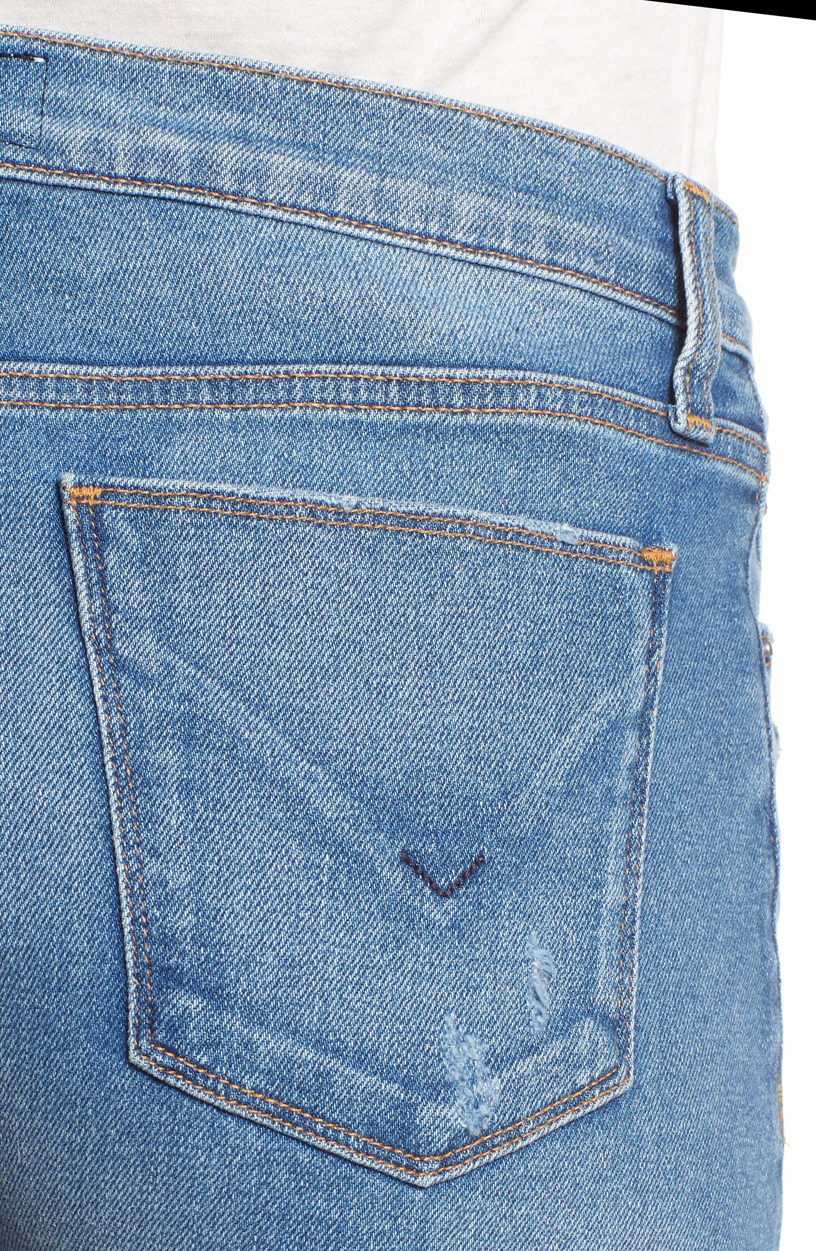 Valeri Cuff Denim Shorts,                             Alternate thumbnail 4, color,                             Proxy