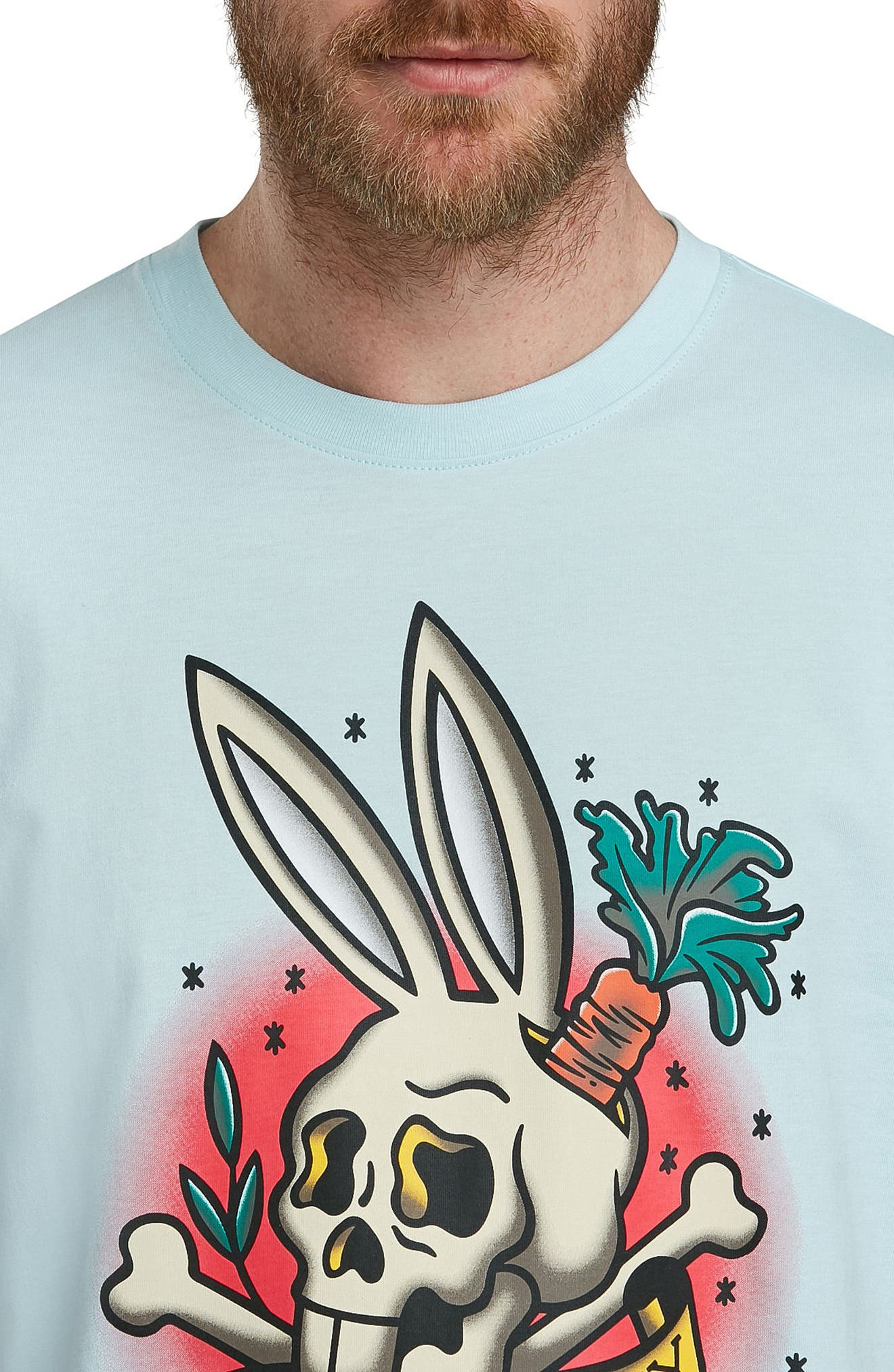 Graphic T-Shirt,                             Alternate thumbnail 3, color,                             Cerulean