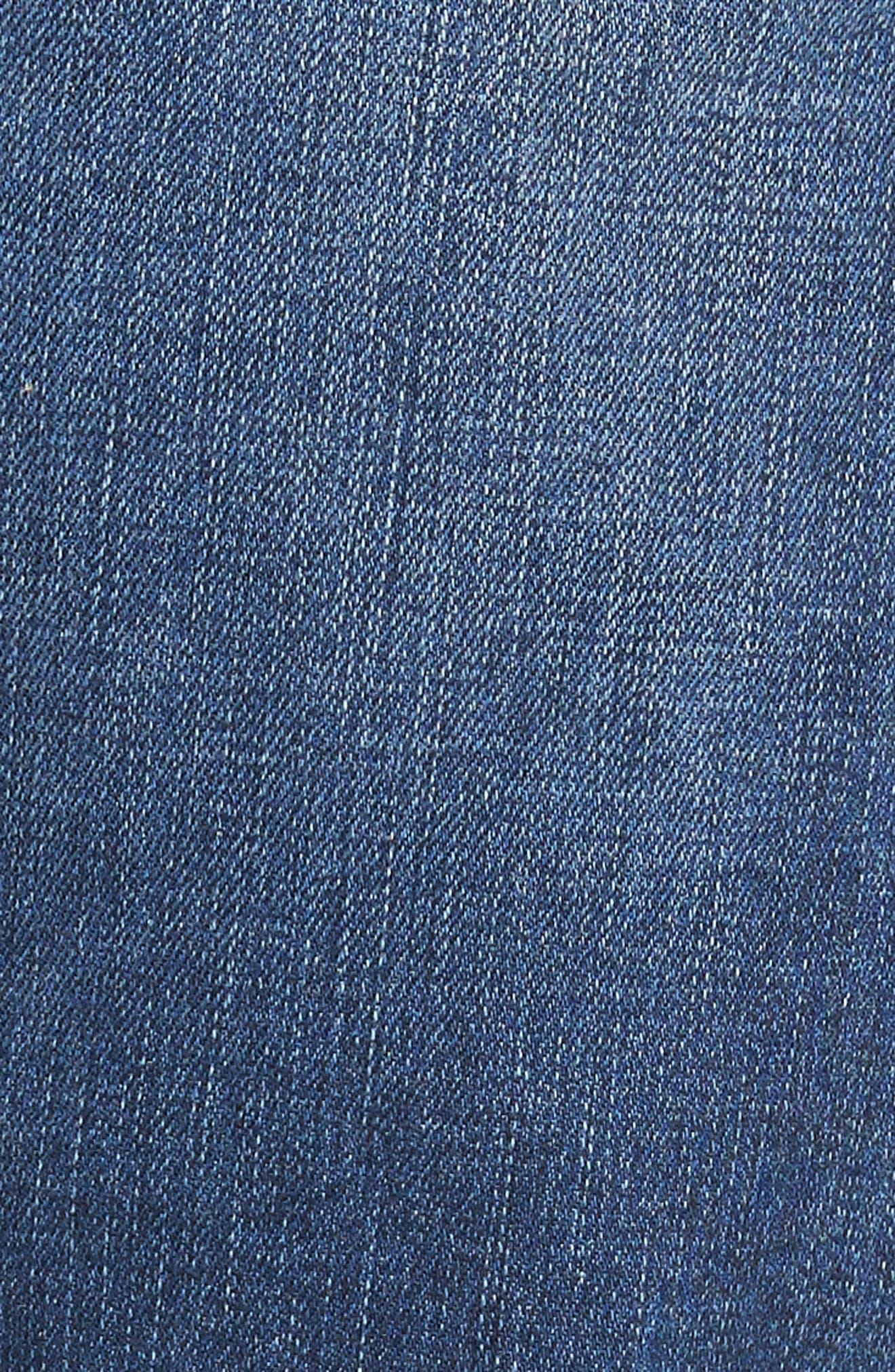 Zach Straight Leg Jeans,                             Alternate thumbnail 5, color,                             Indigo Cashmere