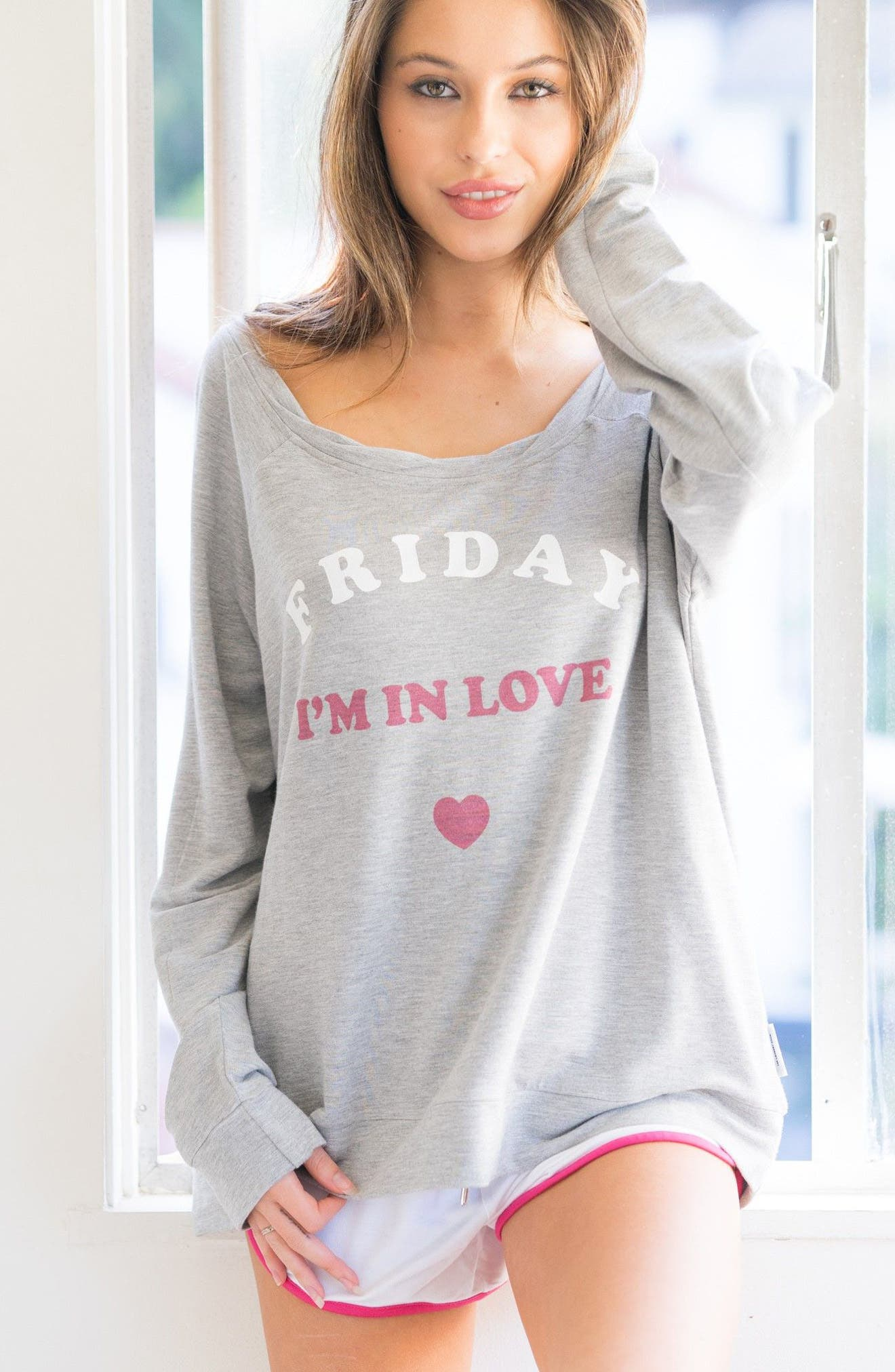 Friday I'm In Love Sweatshirt,                             Alternate thumbnail 2, color,                             Heather