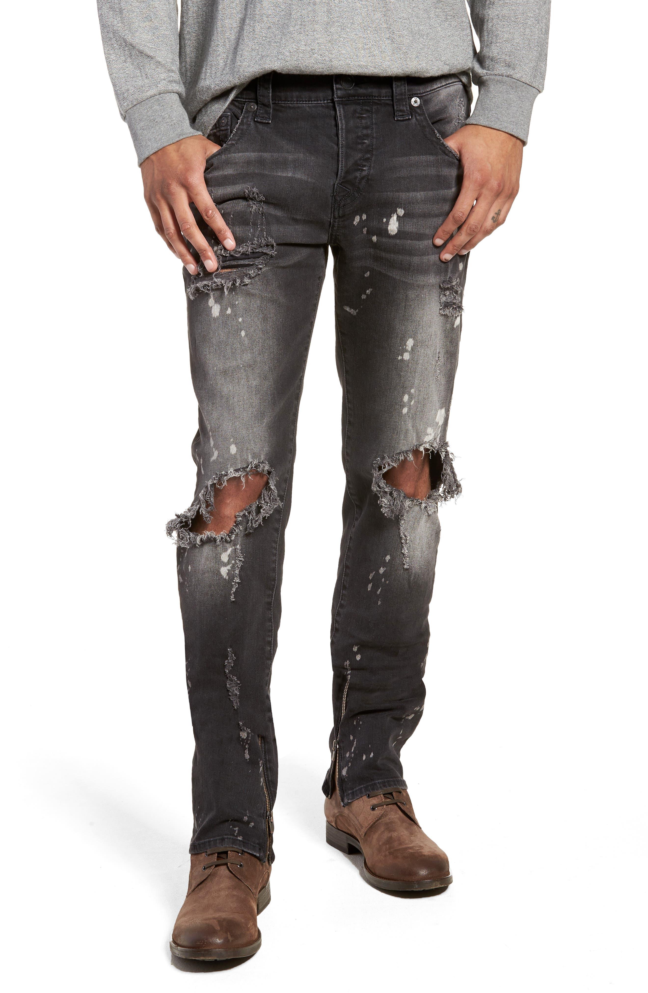 True Religion Brand Jeans Rocco Skinny Fit Jeans (Cyber Rebel)