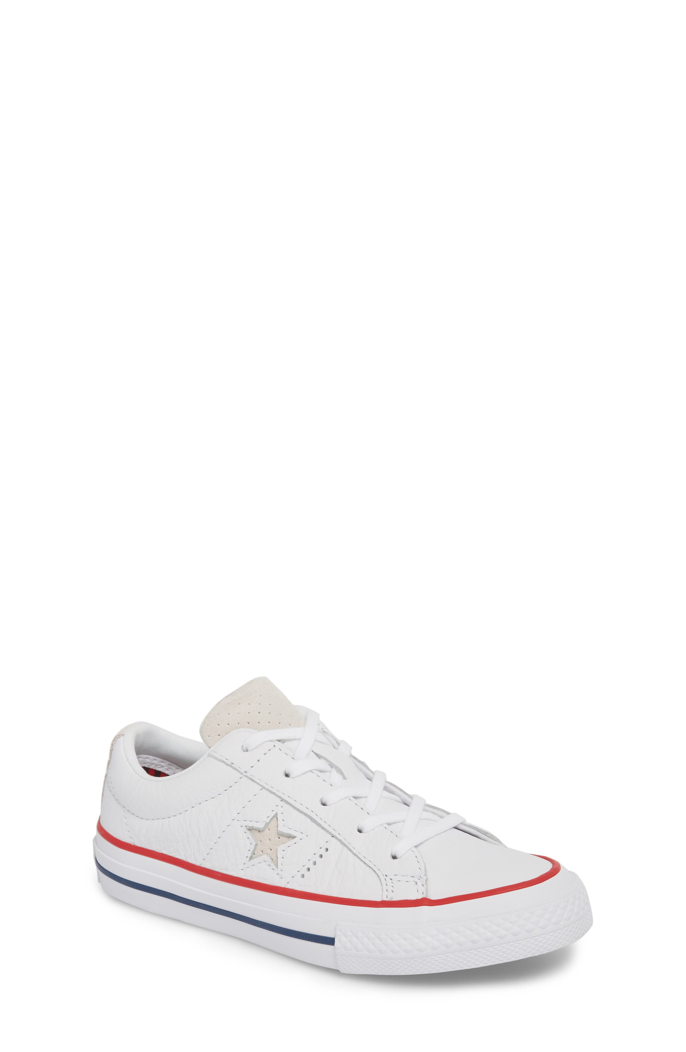 Chuck Taylor<sup>®</sup> All Star<sup>®</sup> New Heritage Oxford Sneaker,                             Main thumbnail 1, color,                             White