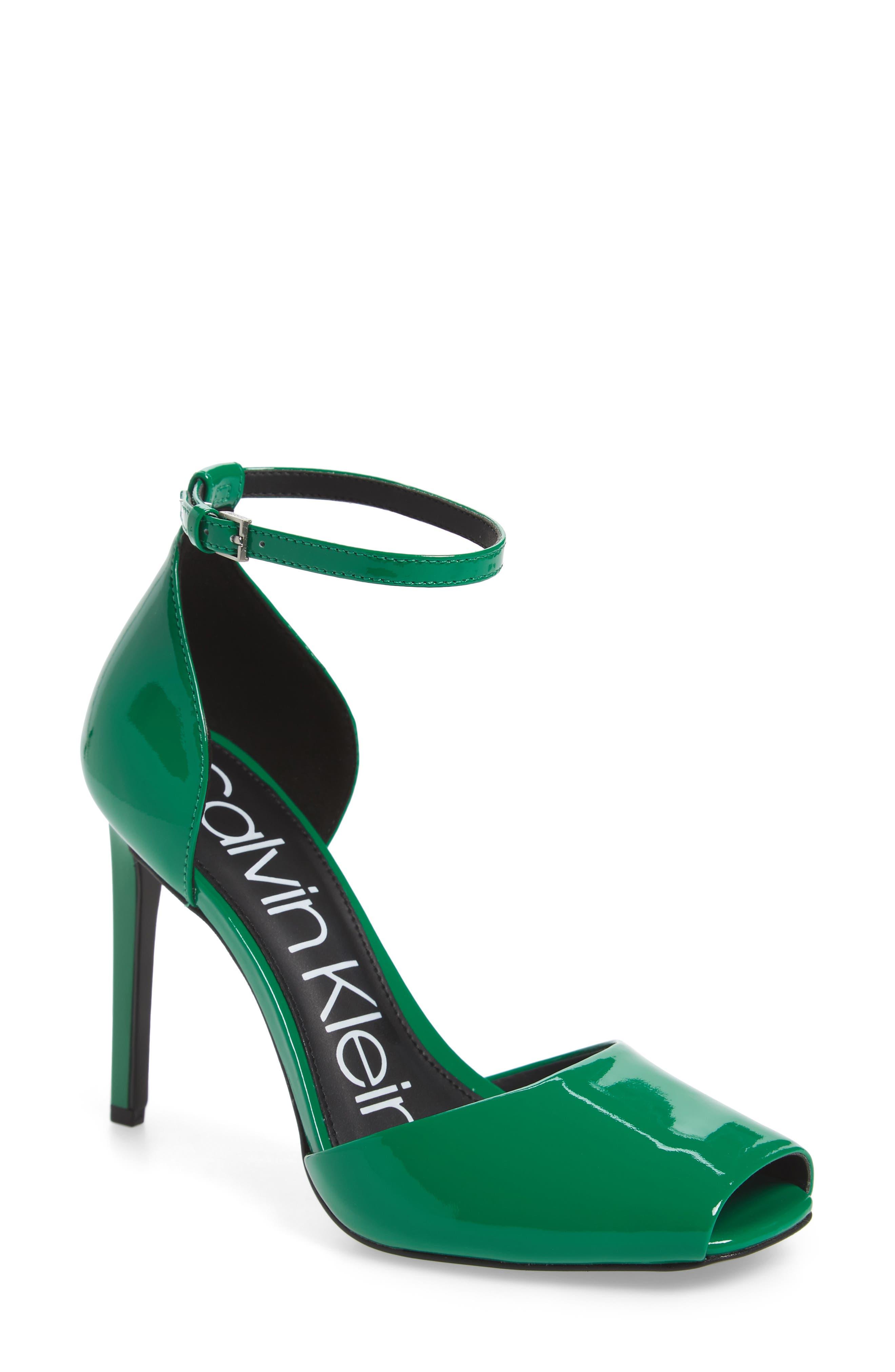 Calvin Klein Daros Peep-Toe Pump (Women)