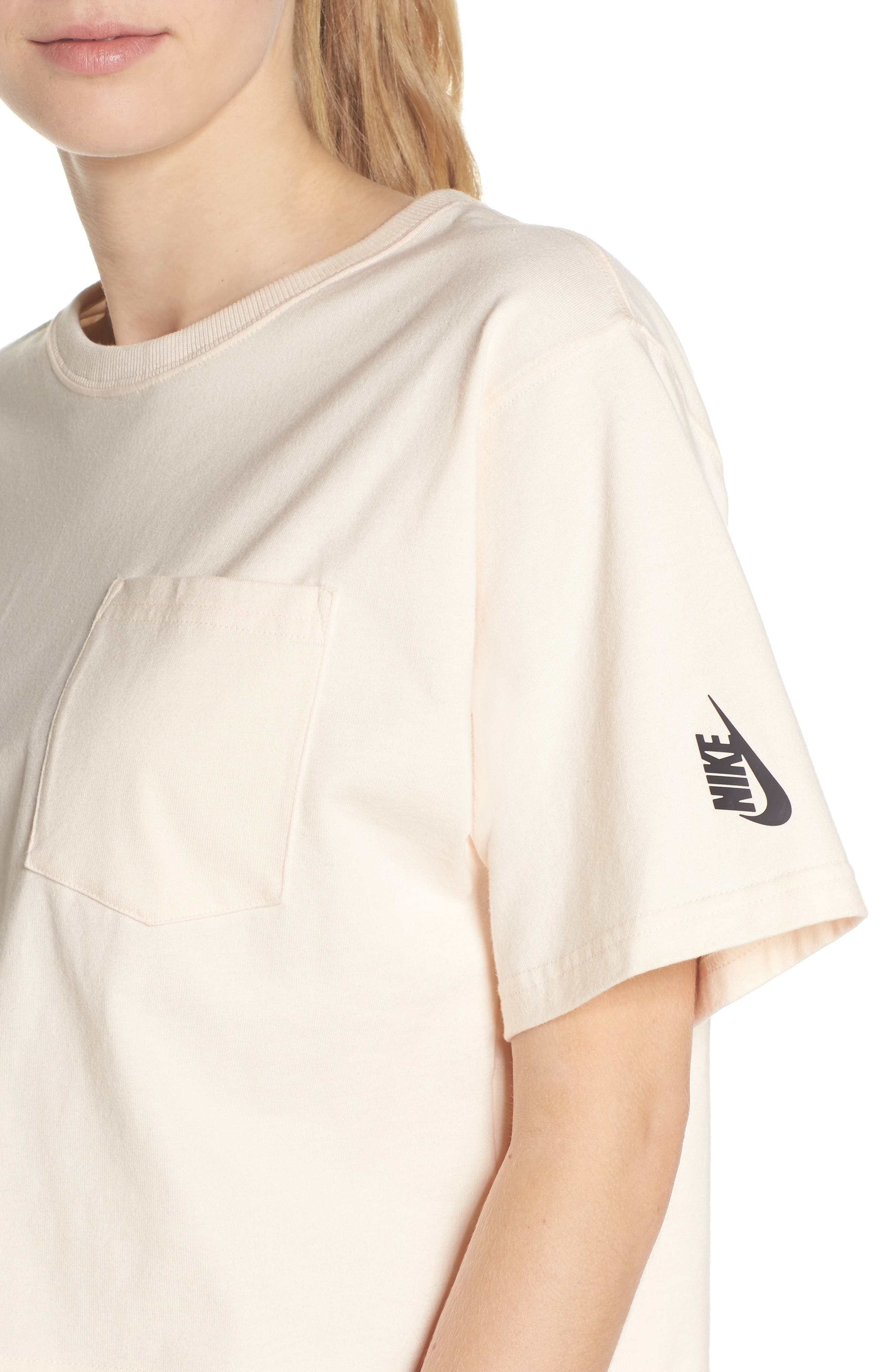 NikeLab Collection Crop Tee,                             Alternate thumbnail 4, color,                             Guava Ice/ Black